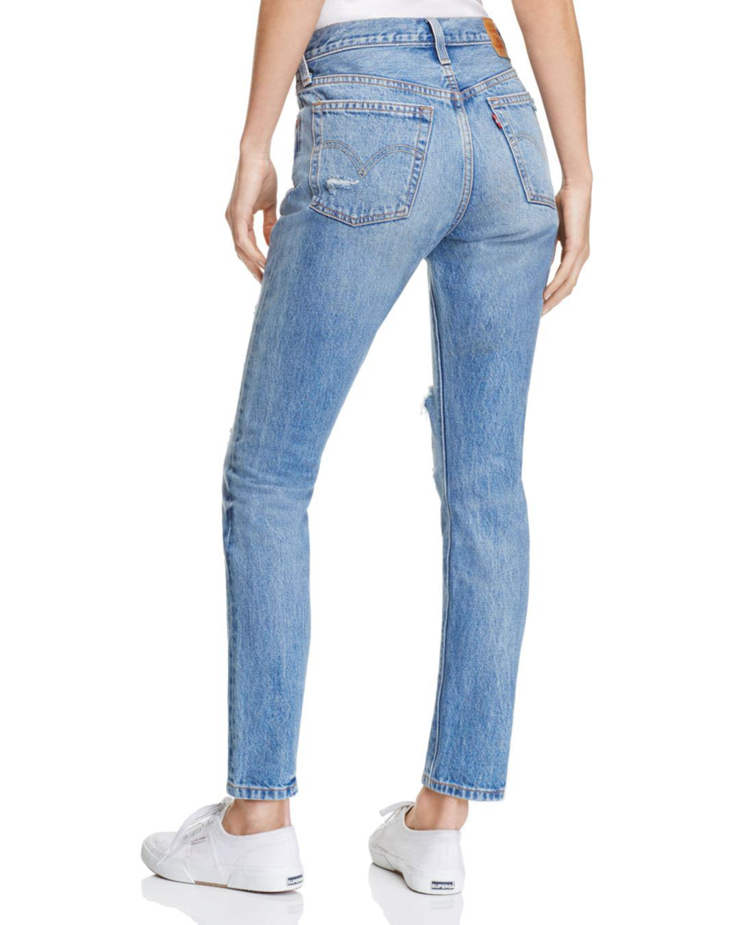cdd1e13350e7ae Levi's 501® Skinny Jeans In Old Hangouts in Blue - Lyst