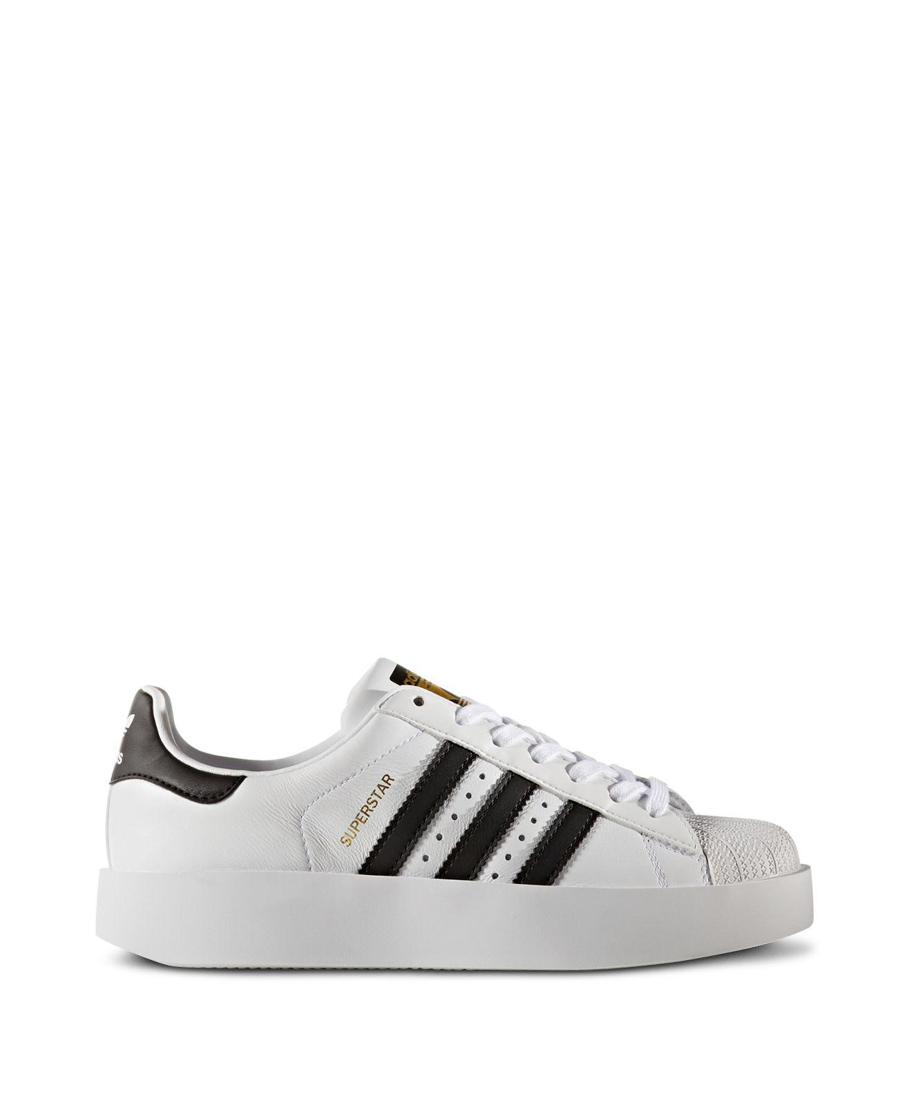 adidas Women's Superstar Bold Platform Lace Up Sneakers in White ...