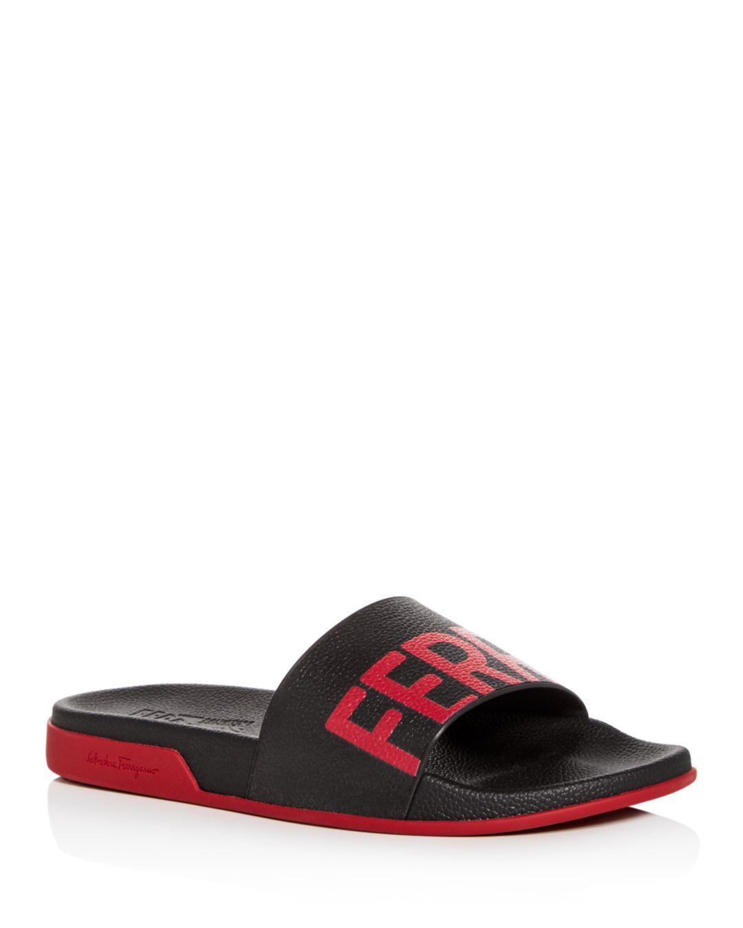 4d212f5f8edc Lyst - Ferragamo Men s Amos Slide Sandals in Black for Men
