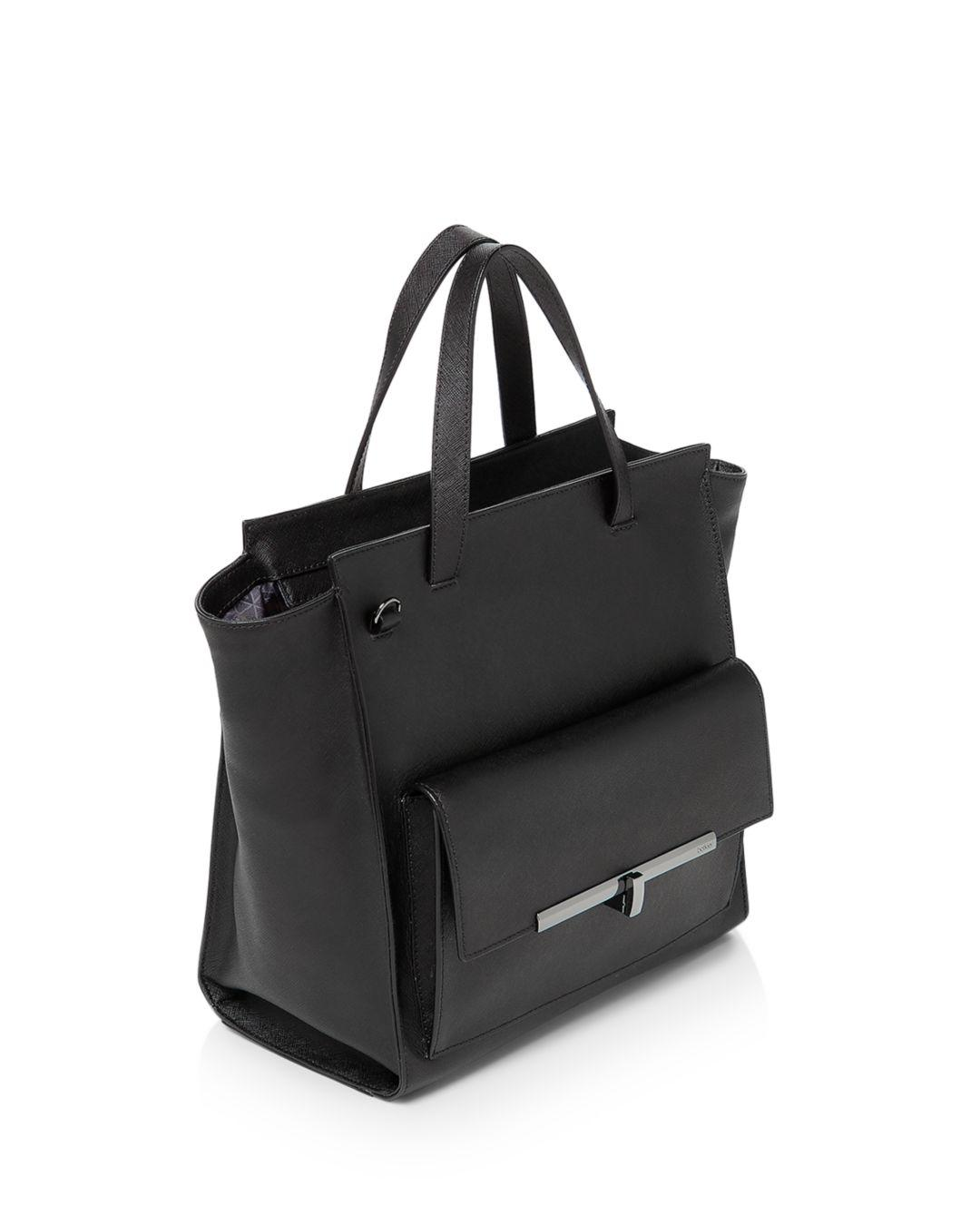 Botkier Leather Jagger Tote in Black