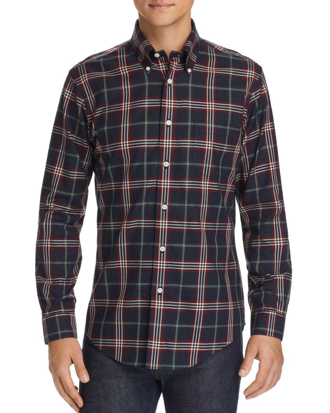 0996e27493 Lyst - Brooks Brothers Tartan Classic Fit Button-down Shirt in Blue ...