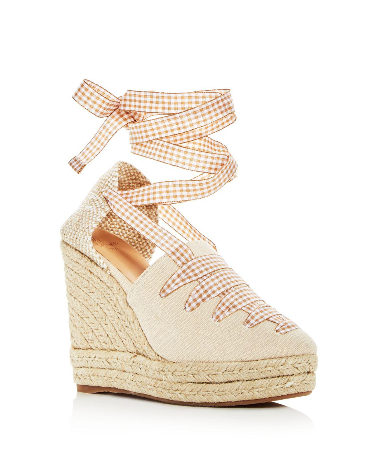 Castaner Women's Lula Ankle Tie Platform Wedge Espadrille Sandals