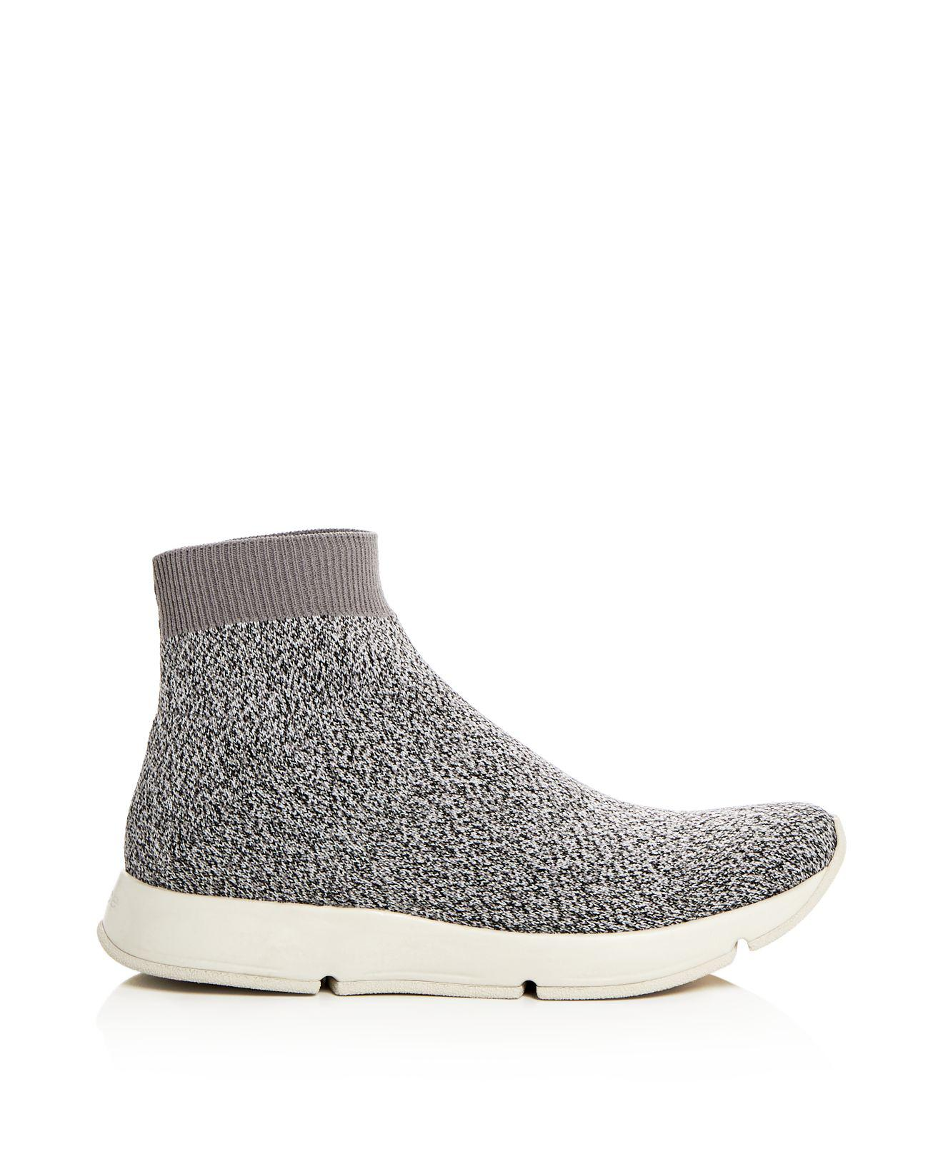 Lyst Vince Women S Tyra High Top Stretch Sock Sneakers