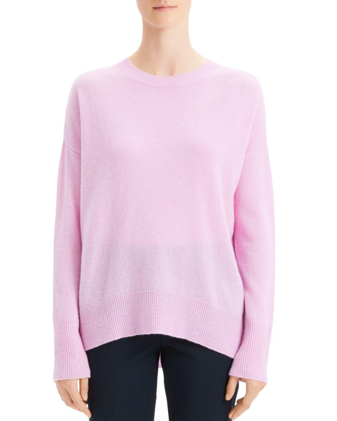 d0ad4d4a93d Lyst - Theory Karenia Cashmere Sweater in Pink - Save 55%
