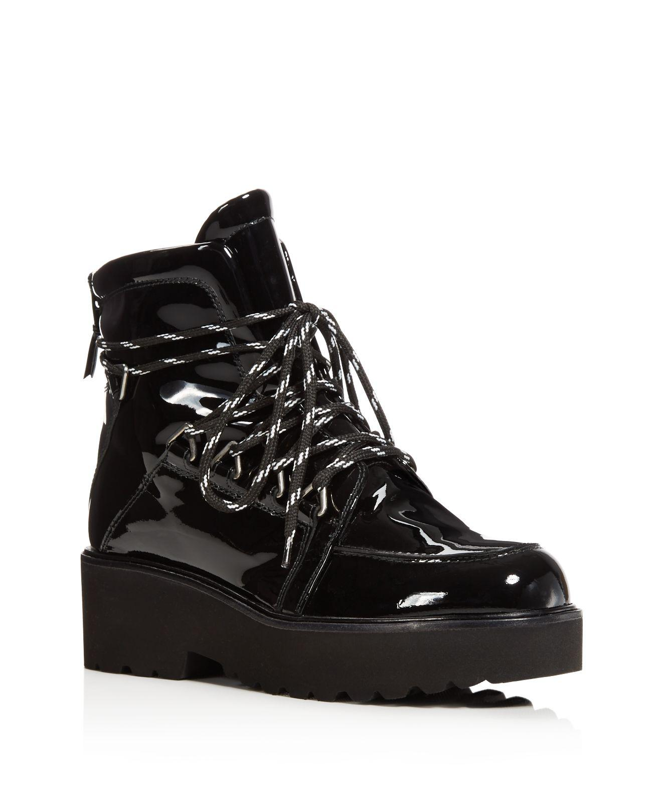 Stuart Weitzman Patent Leather Lace-Up Boots from china cheap price limited edition sale online outlet official cheap real eastbay sale wiki xLXlr4X1