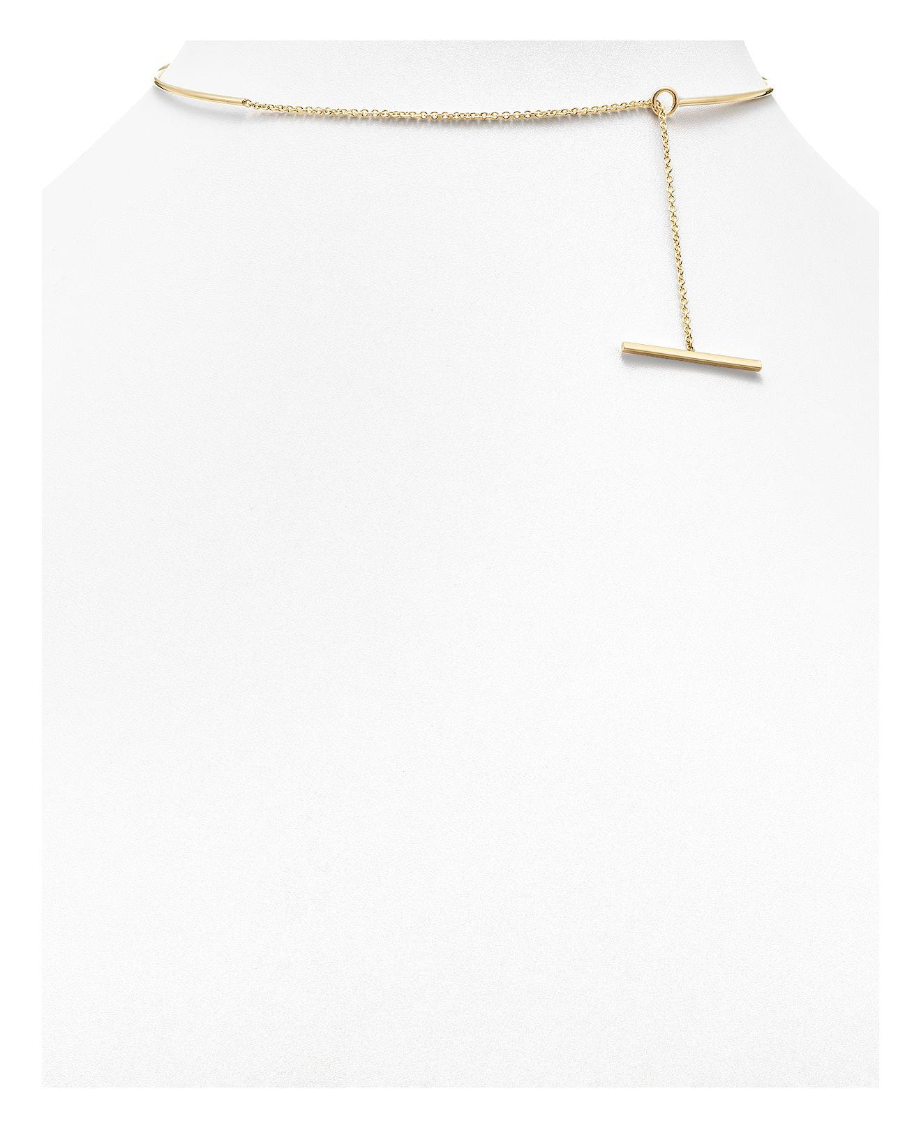 d75b5861302e5 Lyst - Zoe Chicco 14k Yellow Gold Wire And Toggle Chain Choker ...