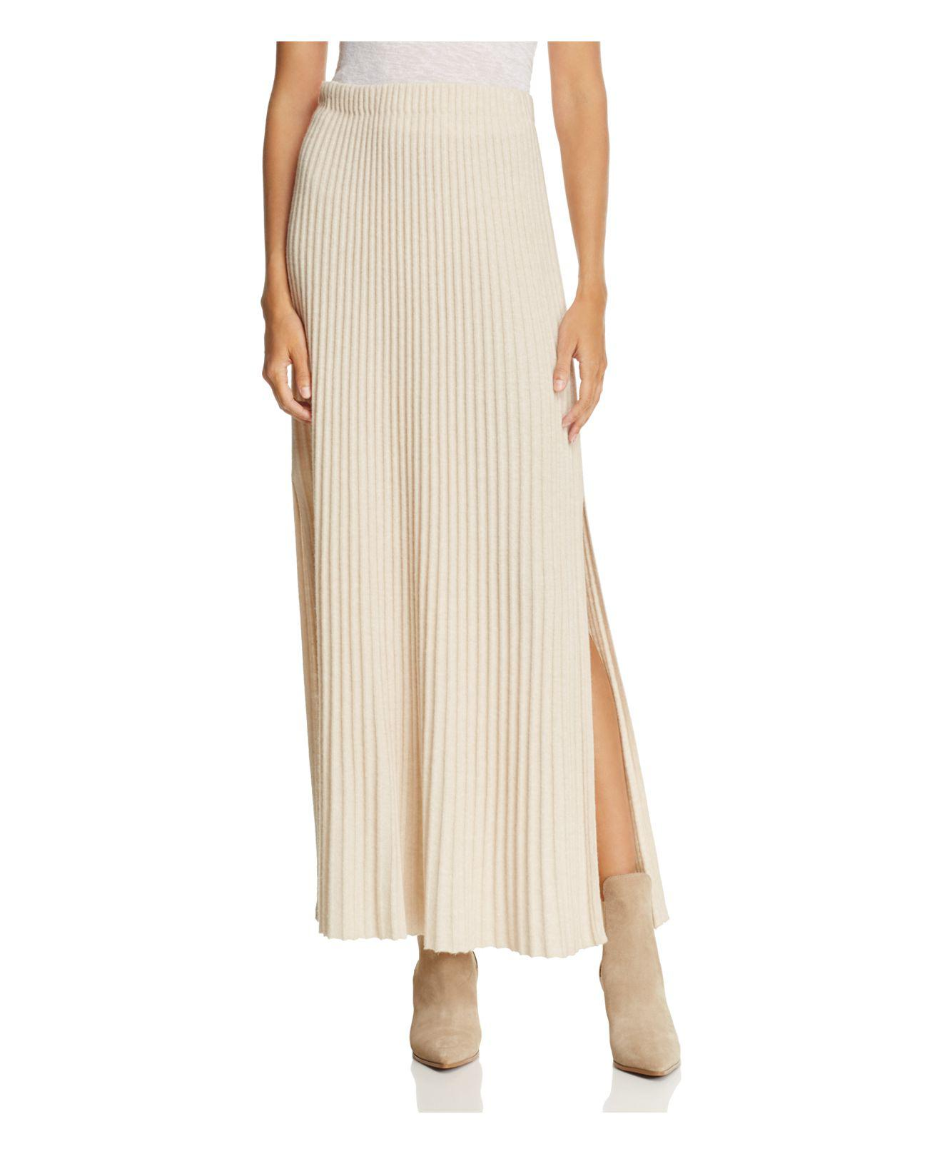 7386dad6a9 Elizabeth and James Joelle Ribbed-knit Maxi Skirt in Natural - Lyst
