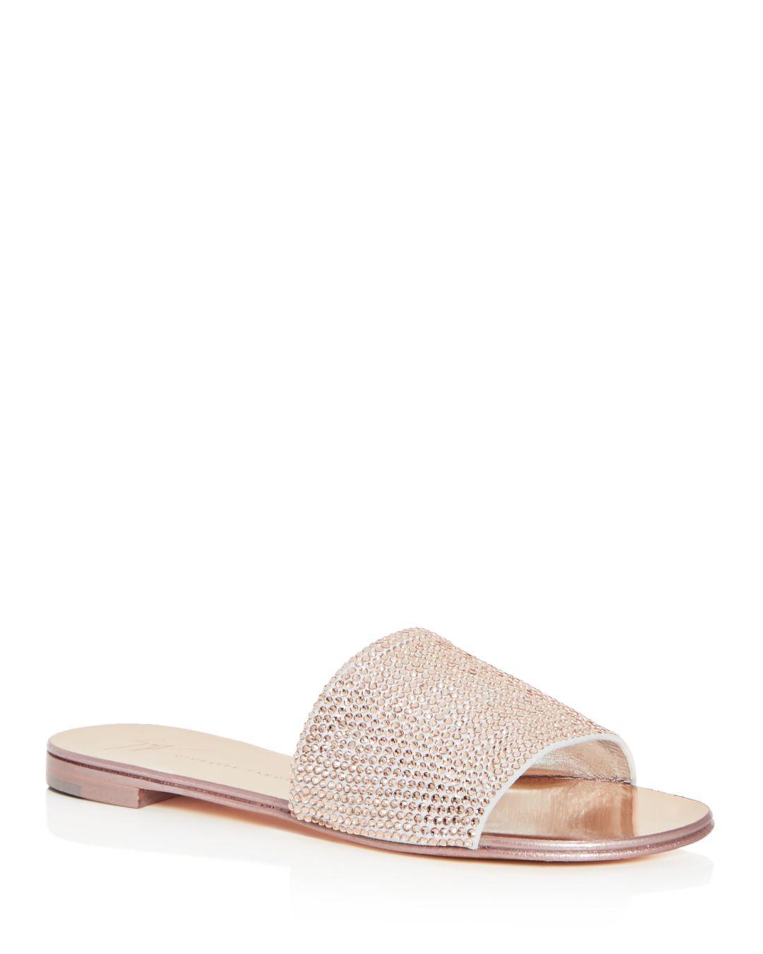 ff508a19b2b Giuseppe Zanotti Women s Swarovski Crystal Embellished Slide Sandals ...