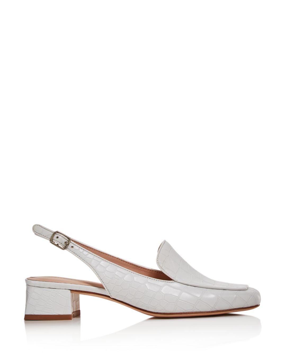6ac1c8fce83 Lyst - Kate Spade Women s Sahiba Block Heel Slingback Loafers in White