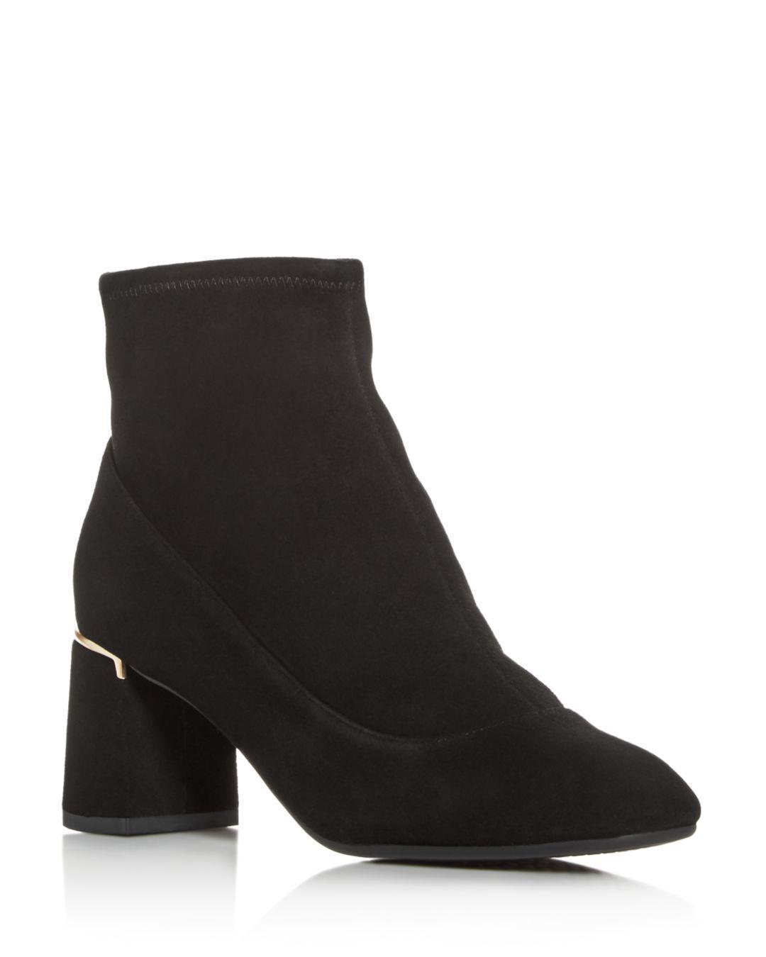 fe86c37639d Lyst - Cole Haan Women s Laree Block-heel Booties in Black