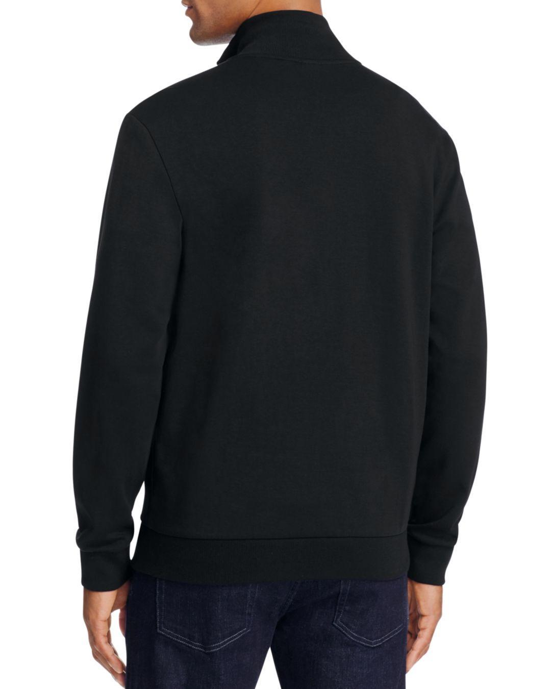 53a6a795 BOSS Boss Green Skaz Contrast Trim Zip Sweatshirt in Black for Men - Lyst
