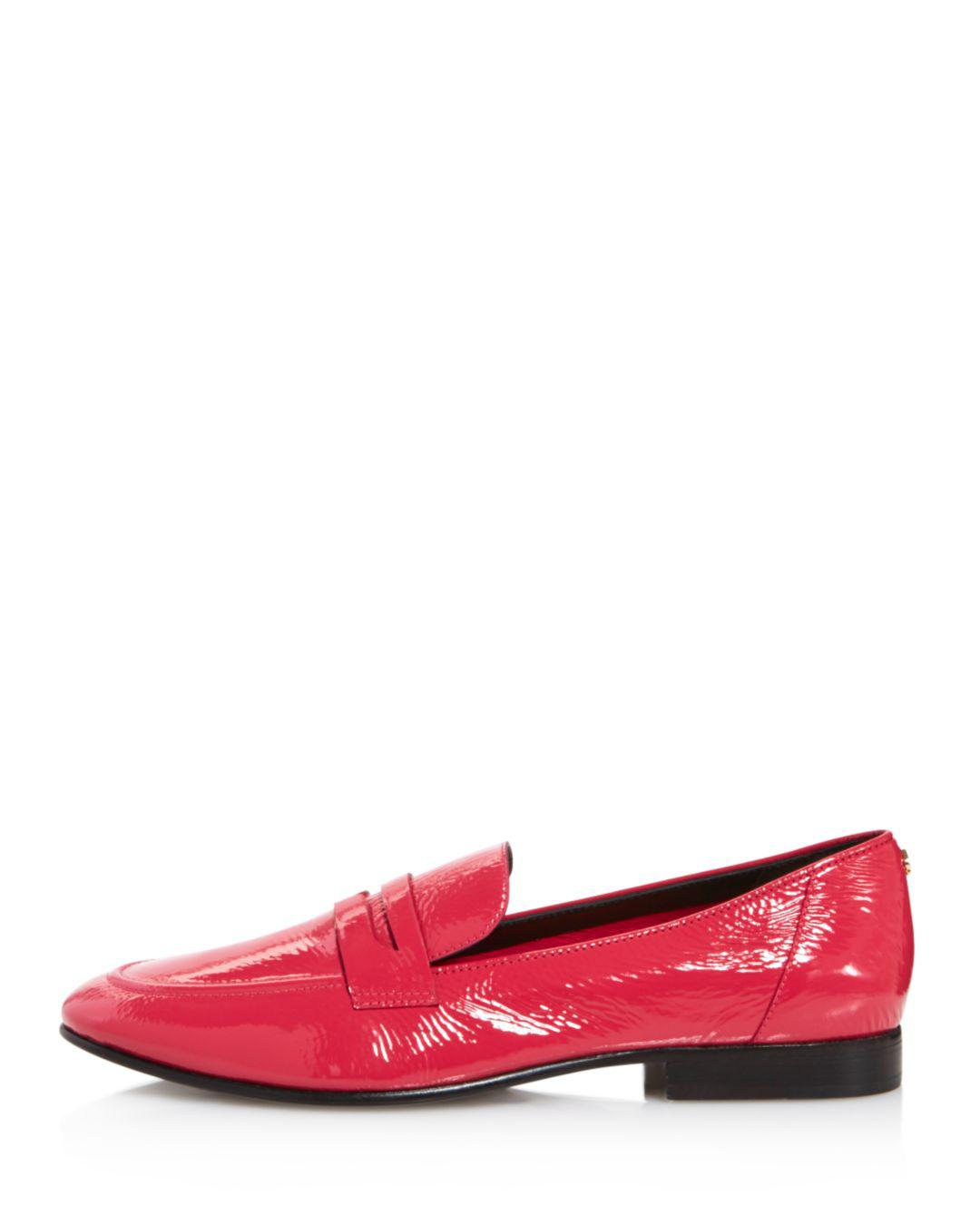 05a2857fc6d Lyst - Kate Spade Women s Genevieve Almond Toe Patent Leather Loafers
