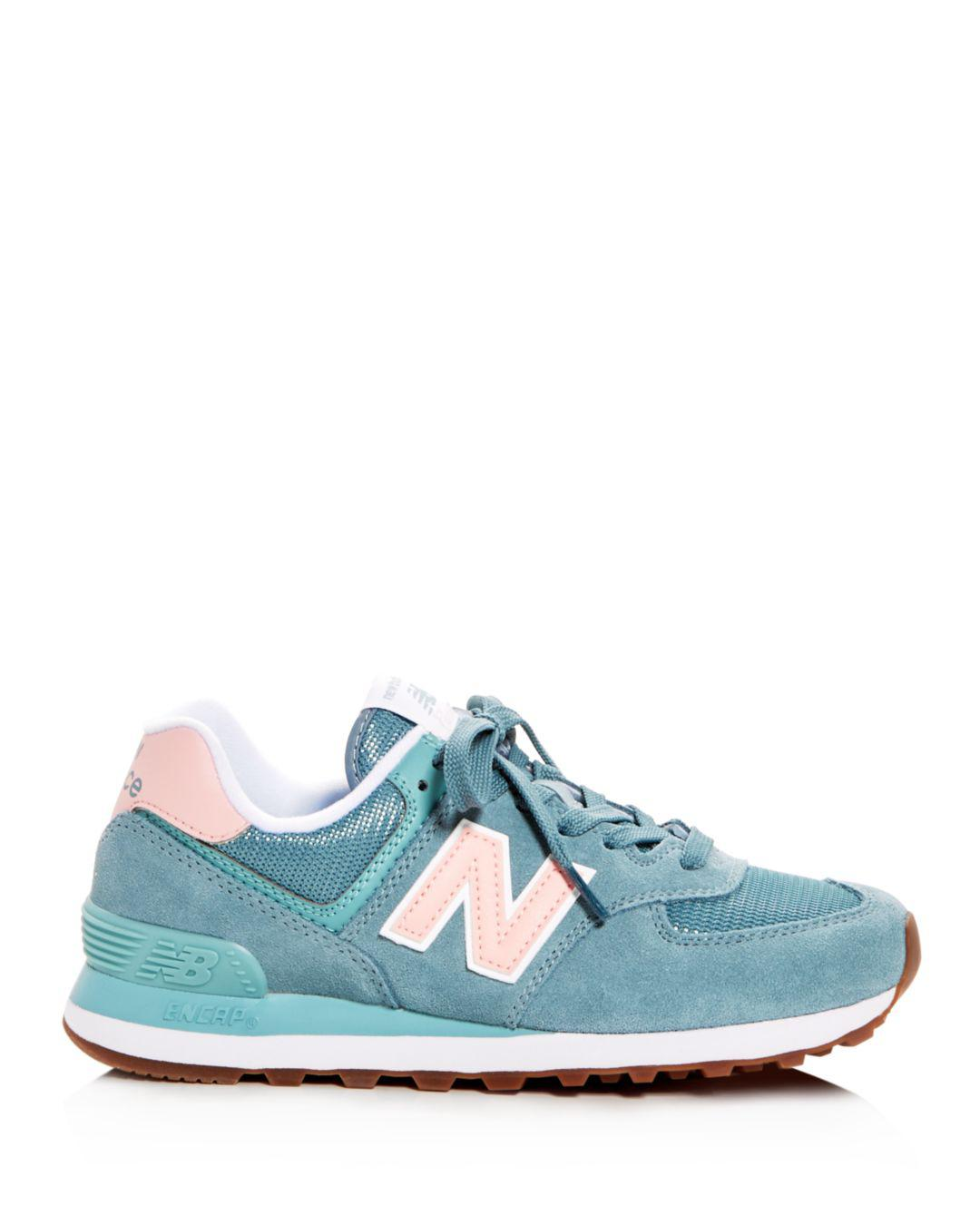 classic free delivery save up to 80% New Balance Women's Classic 574 Summer Dusk Nubuck Leather Lace Up ...