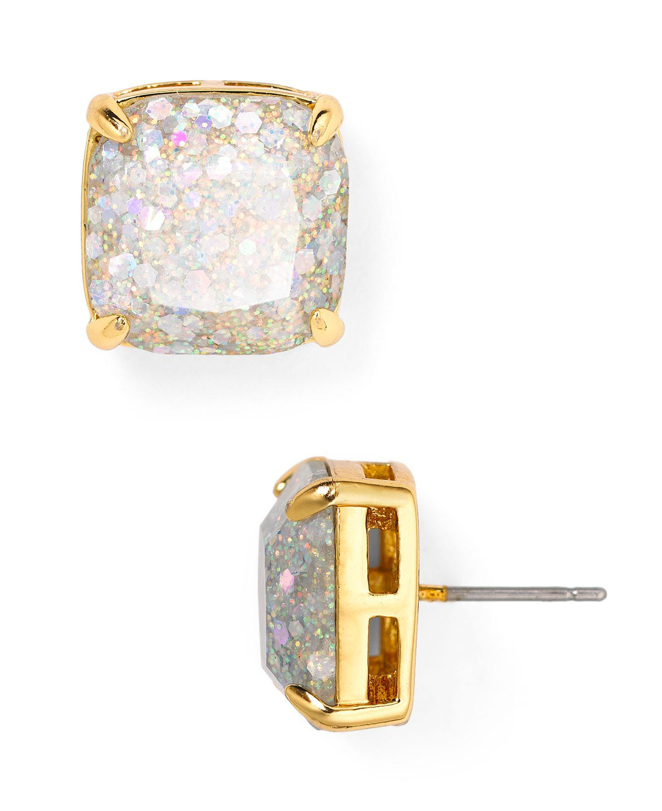 4dcef56e0 Kate Spade Pink New York Mini Small Glitter Stud Earrings Tradesy
