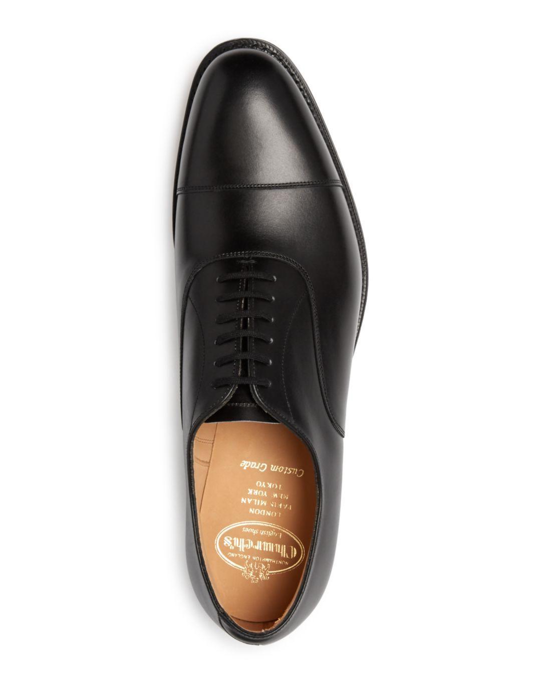 bf9c4e935766 Lyst - Church s Men s Dubai Cap Toe Leather Oxfords in Black for Men