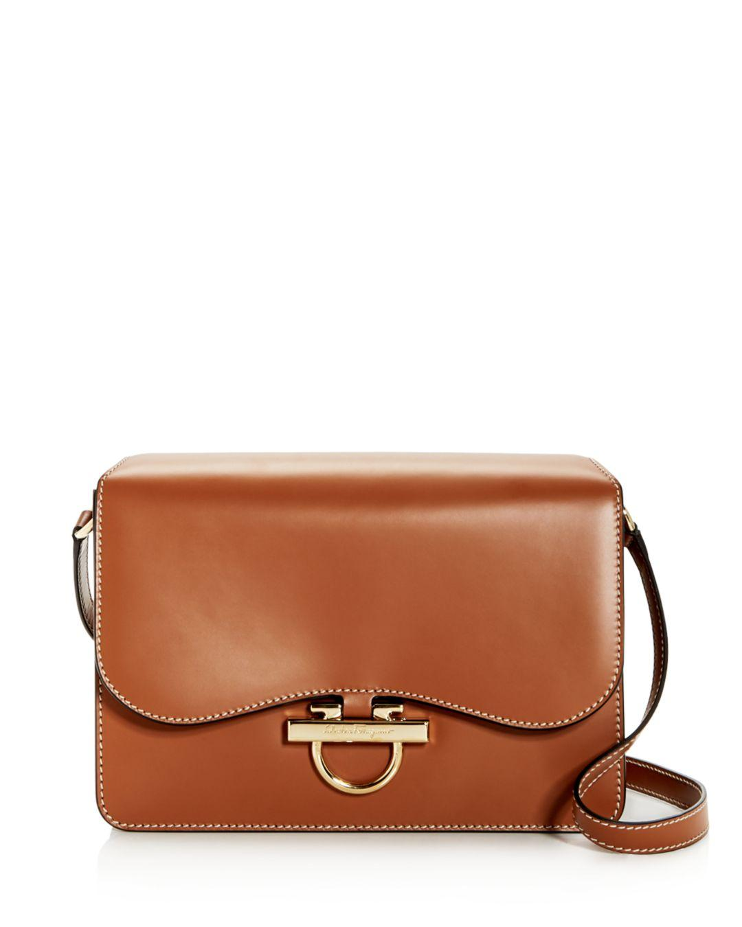 505a12879a Ferragamo Joanne Classic Leather Shoulder Bag in Brown - Lyst
