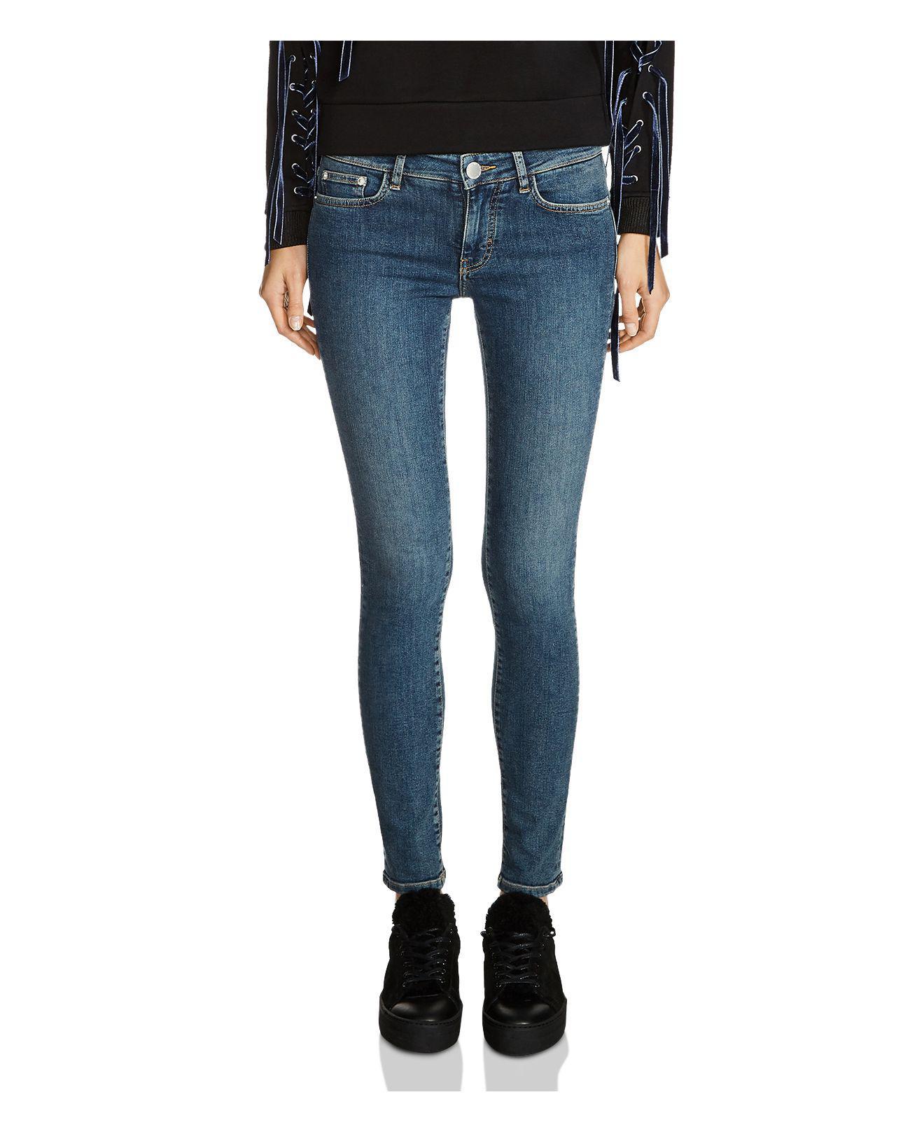 Maje Paska Ultra Skinny Jeans In Blue Lyst