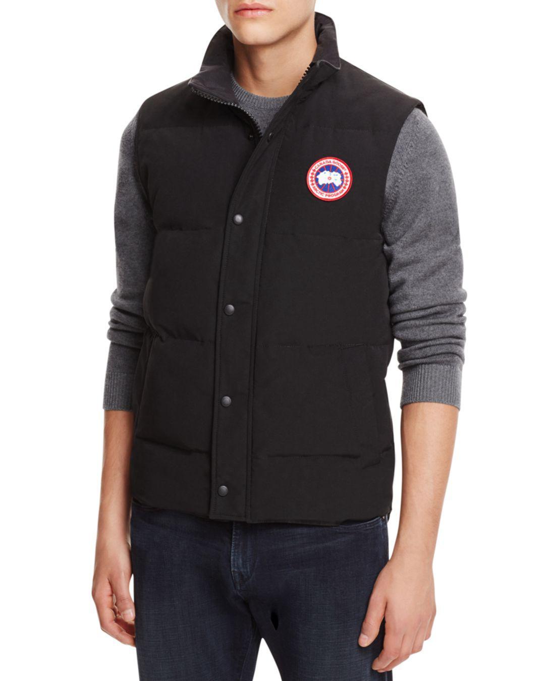 40191b4e4b6e5 ... 50% off lyst canada goose garson down vest in black for men 9e729 13334