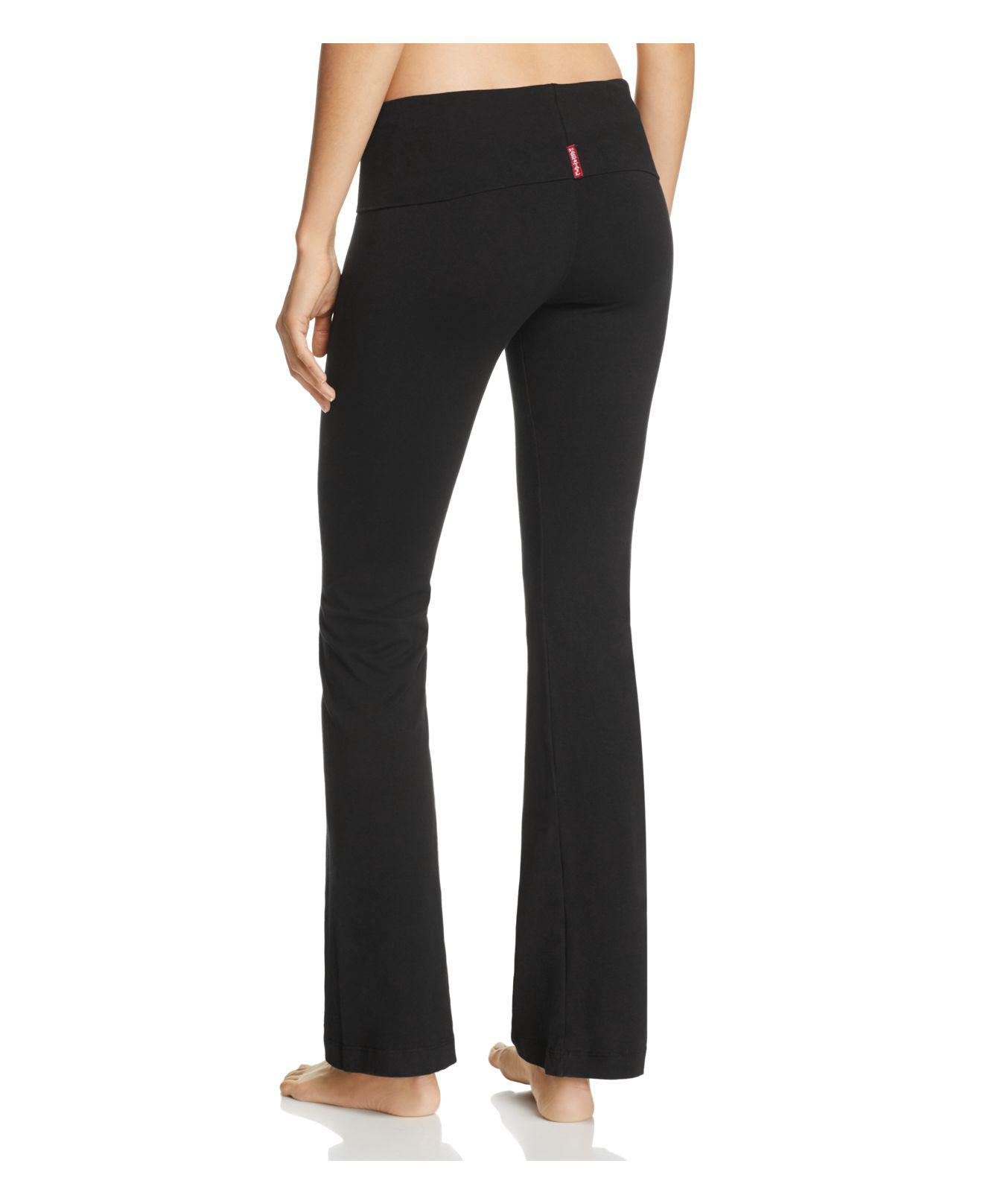 Hard Tail Foldover Pants In Black