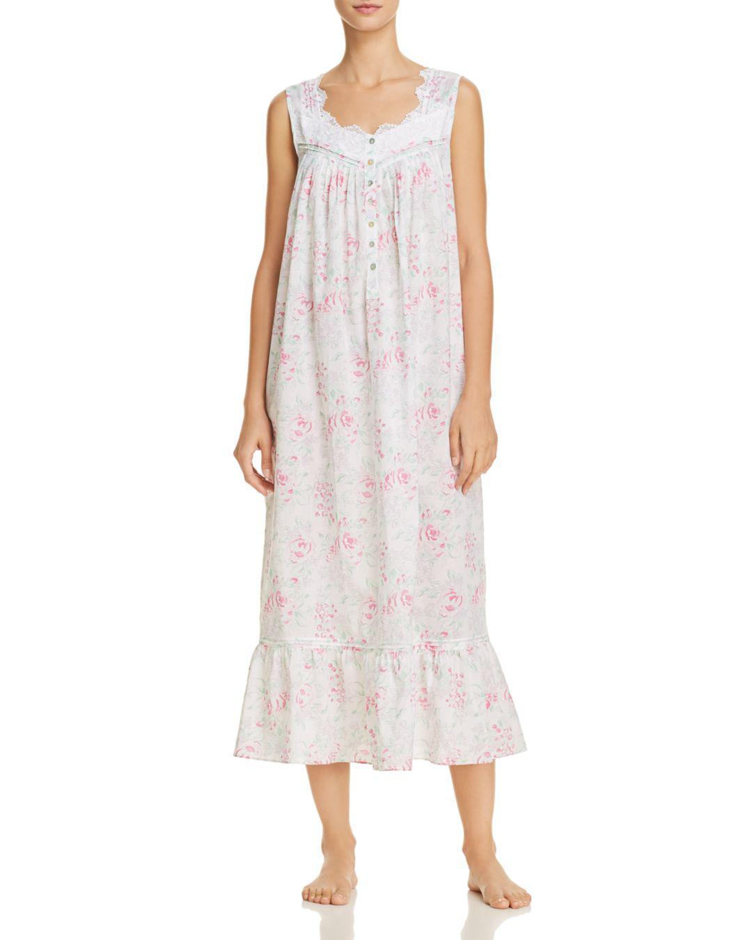 Eileen West Floral Lawn Ballet Gown - Lyst