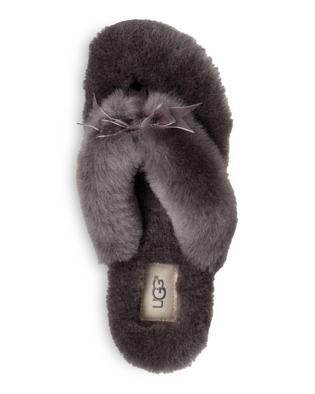 0955c866b6d ... Women s Fluff Sheepskin Flip-flops - Lyst. View fullscreen