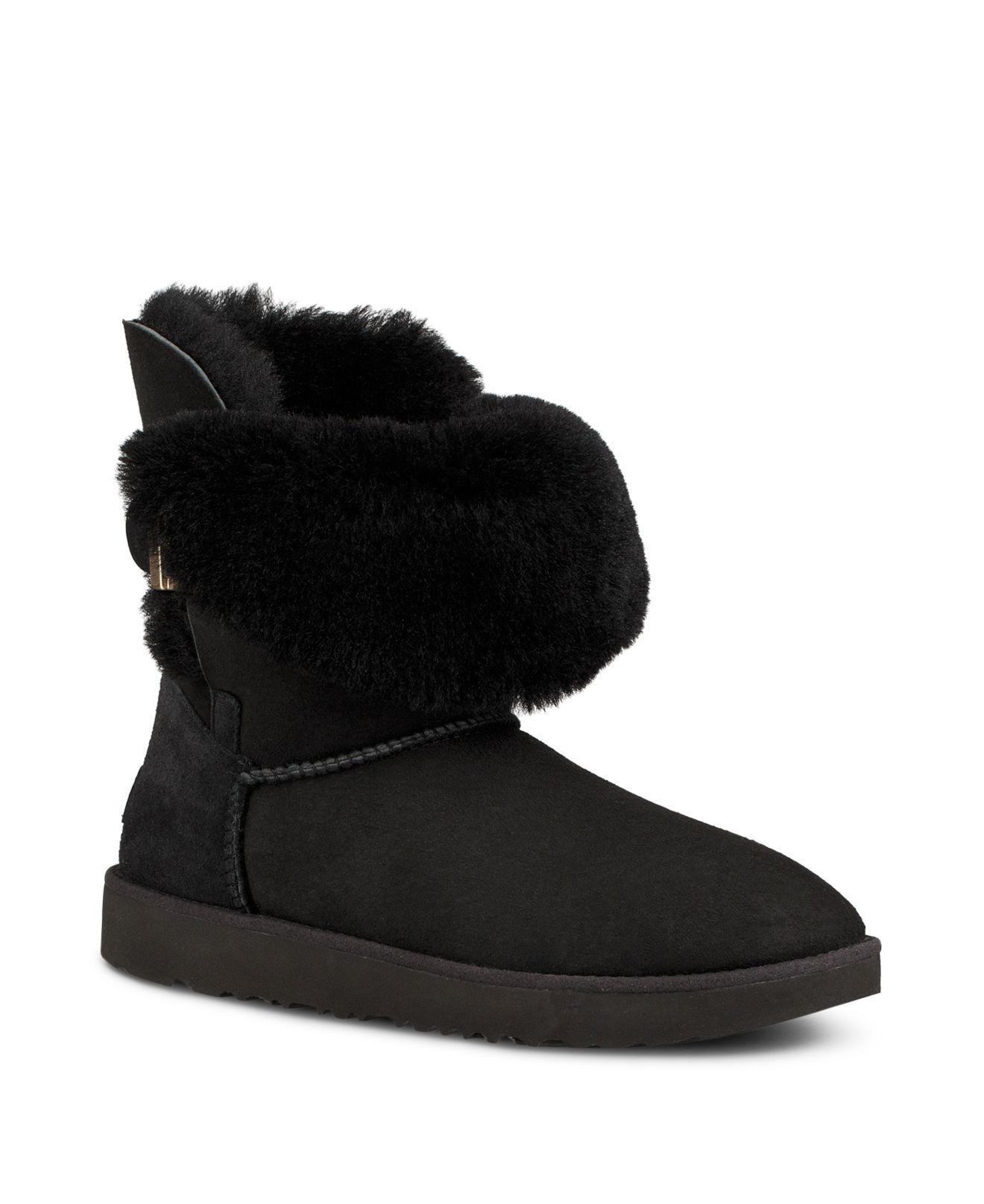 d1b6d0fe109 Ugg Black Women's Jaylyn Sheepskin & Leather Booties