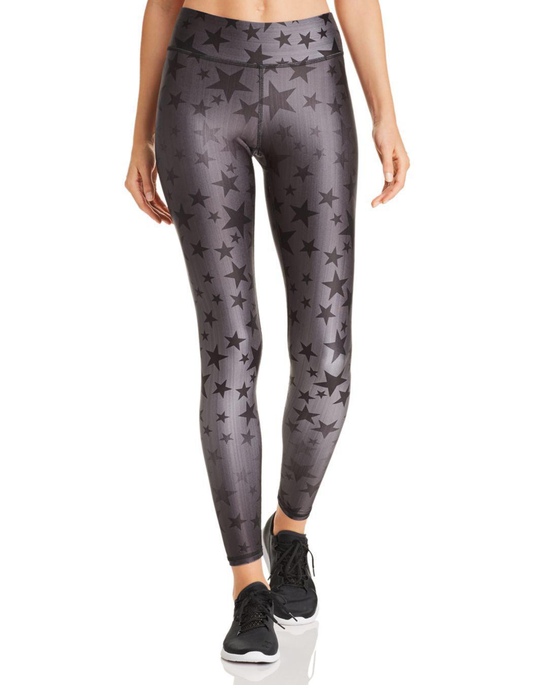 a9b90f4490a70 Lyst - Terez Steel Star Print Leggings in Gray