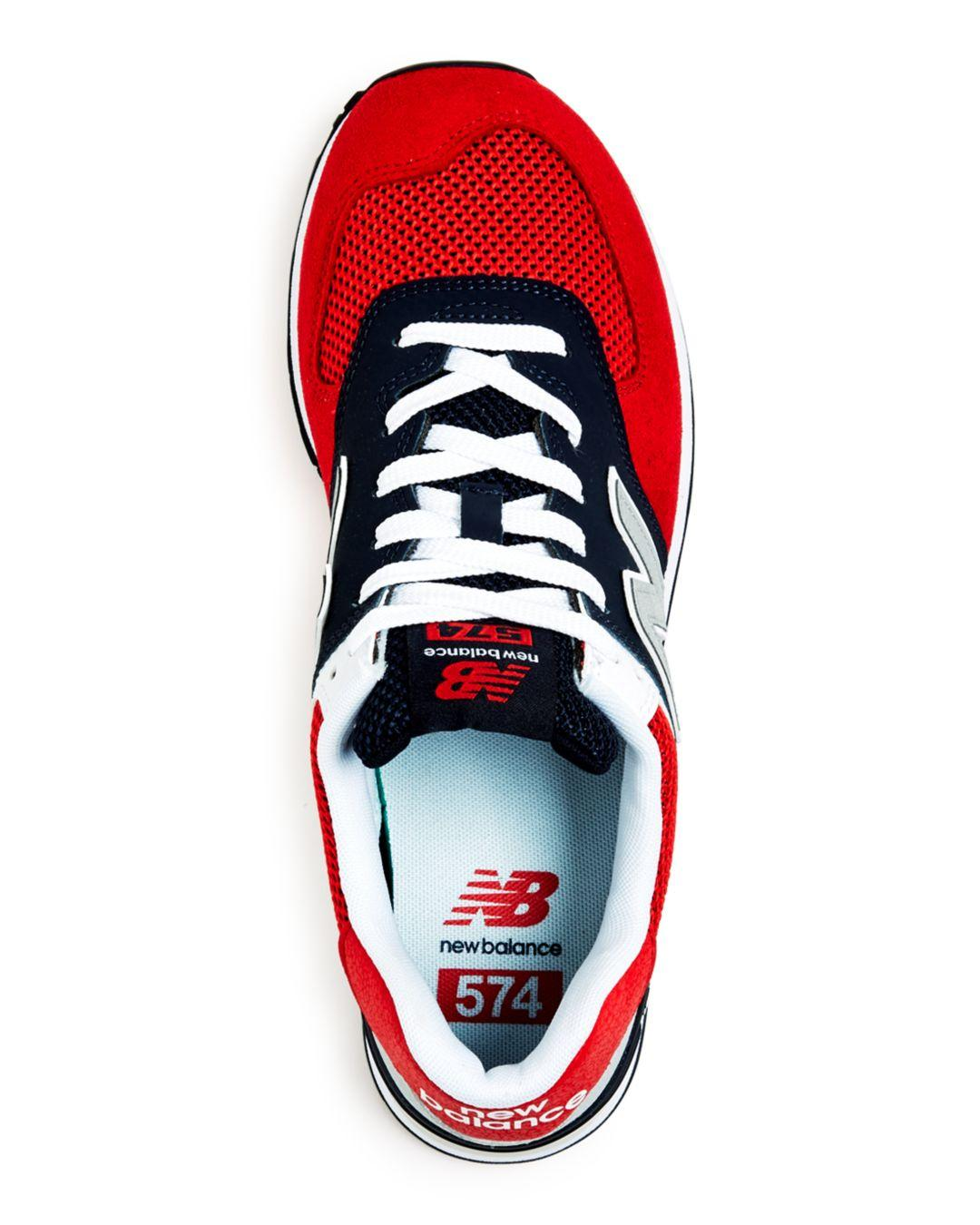 46821281b New Balance Men's 574 Mixed - Media Low - Top Sneakers in Red for Men - Lyst