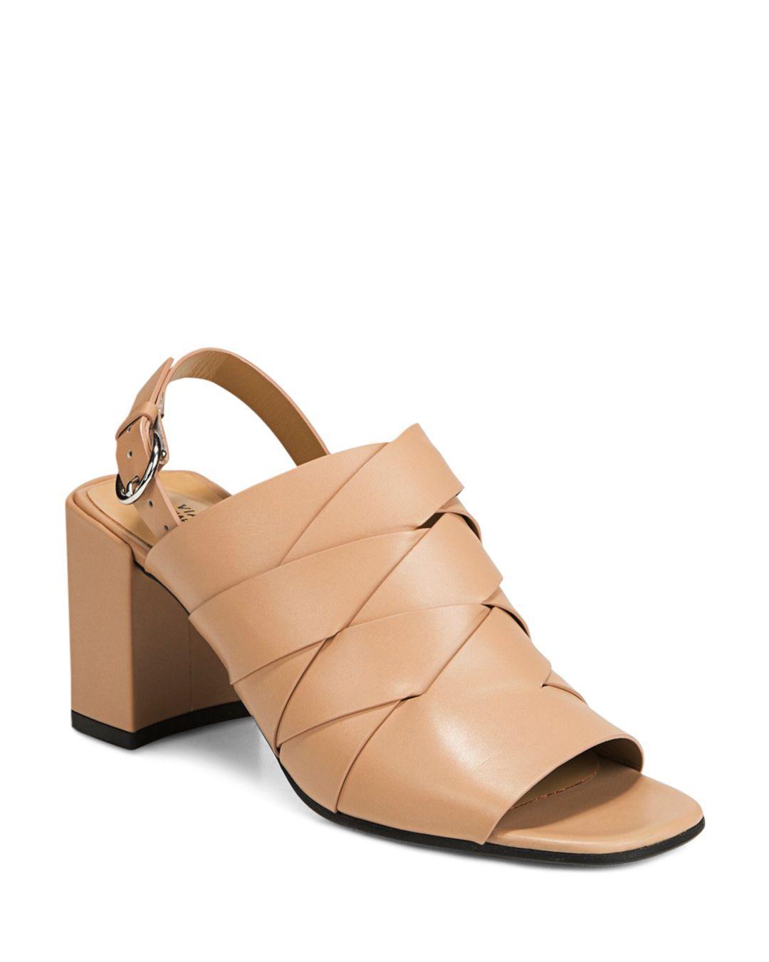 ad35f457f37a Lyst - Via Spiga Women s Oren 2 Woven Leather Slingback Sandals