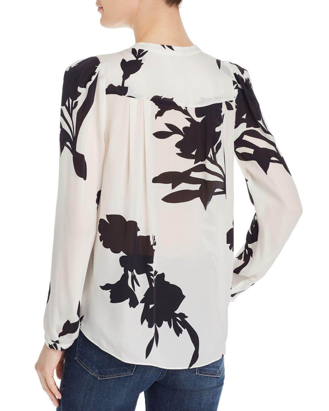 da530dd1b127 Lyst - Joie Kayvan Floral Silk Blouse