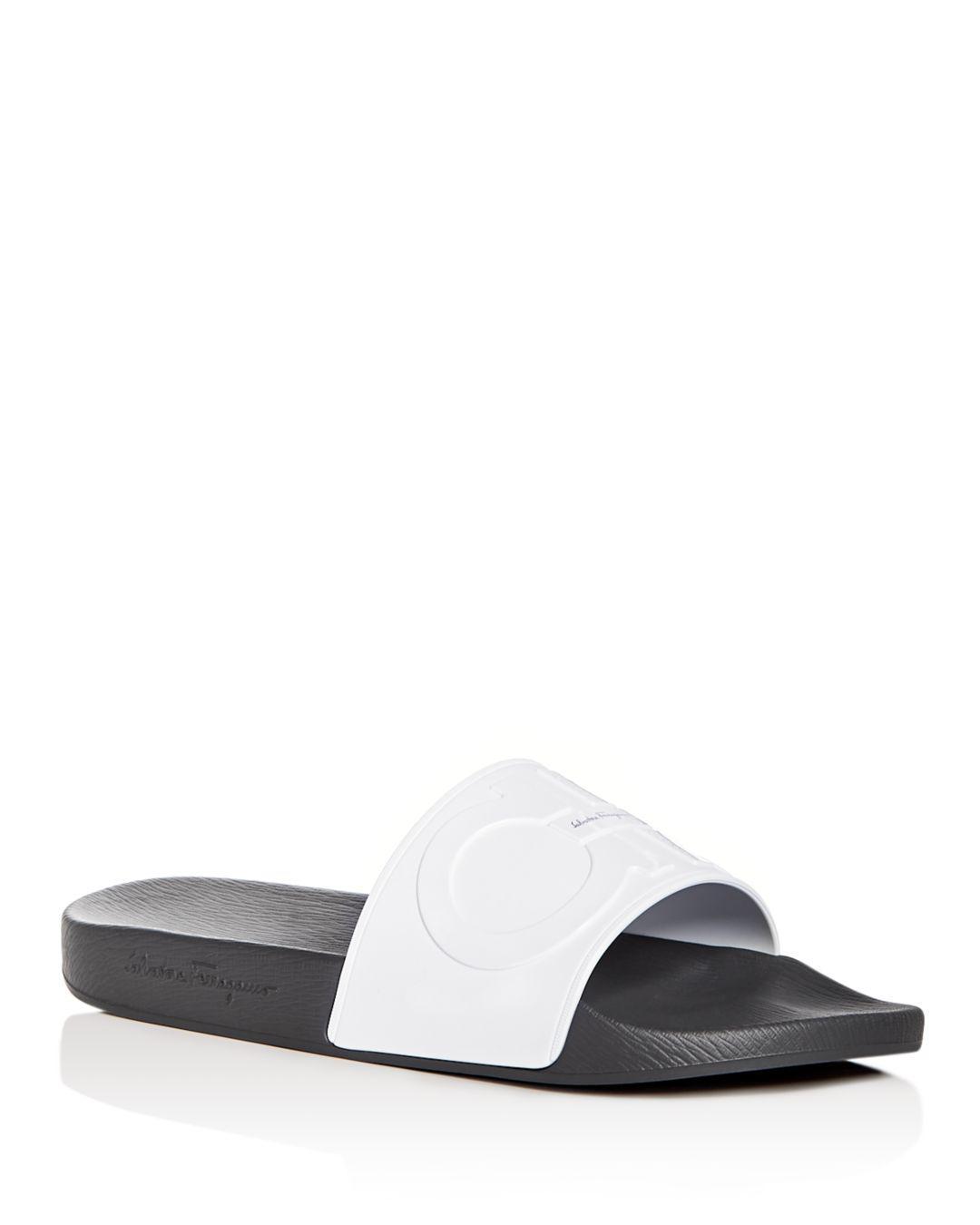7fe38d8142ee Ferragamo Men s Groove 2 Original Double Gancini Slide Sandals in ...
