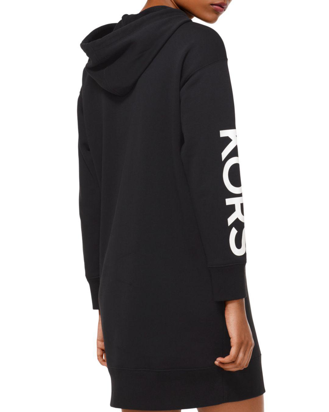 f364b733e78 MICHAEL Michael Kors Studded Logo Sweatshirt Dress in Black - Lyst
