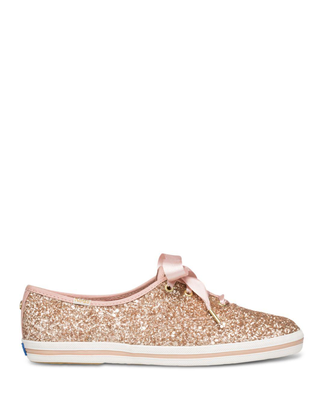 88f745cbe82 Lyst - Keds X Kate Spade New York Women s Glitter Lace Up Sneakers