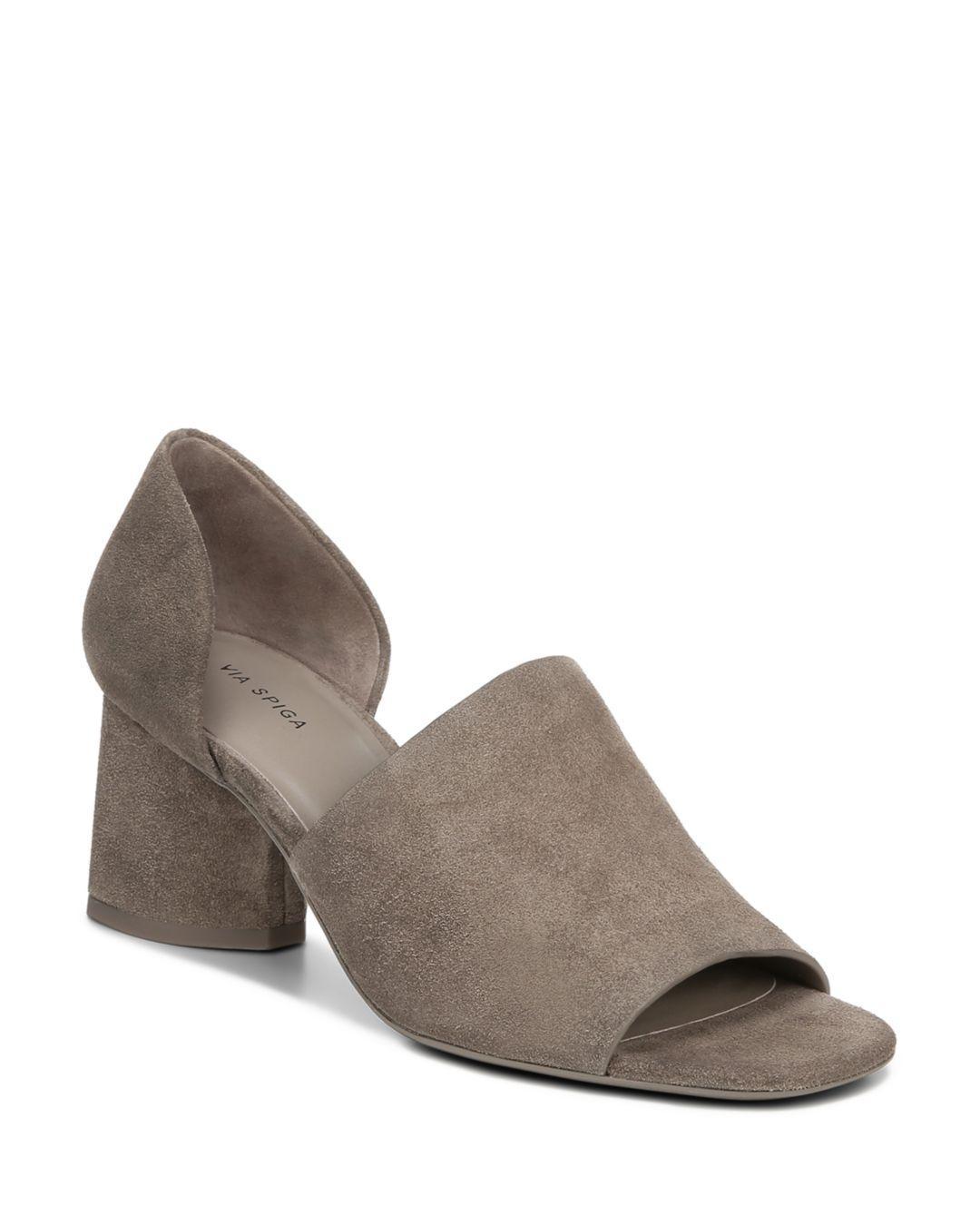 f4358a999b65 Via Spiga - Brown Women s Leah Block Heel Sandals - Lyst. View fullscreen