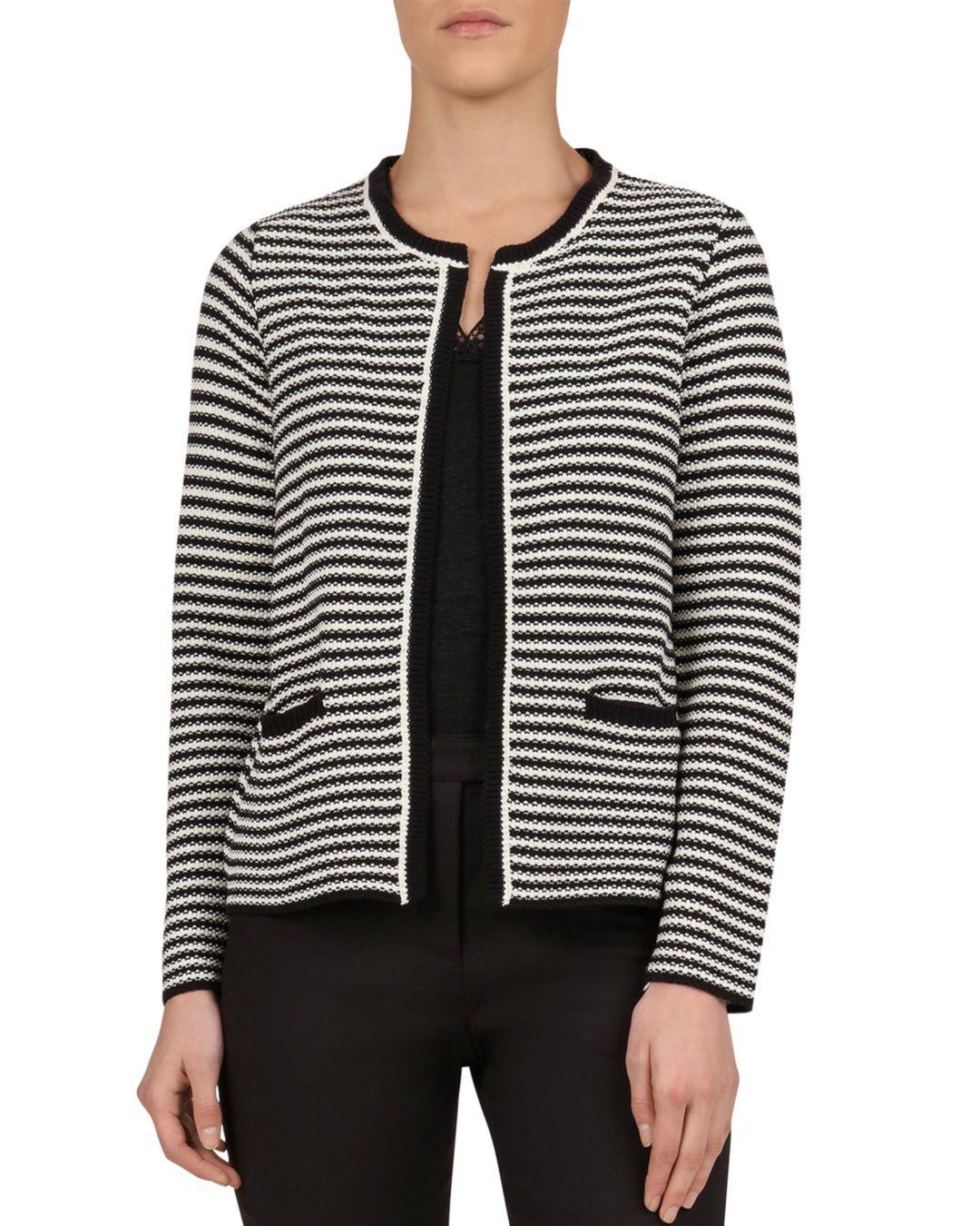 915d24914 Lyst - Gerard Darel Josephine Stripe-pattern Cardigan in Black
