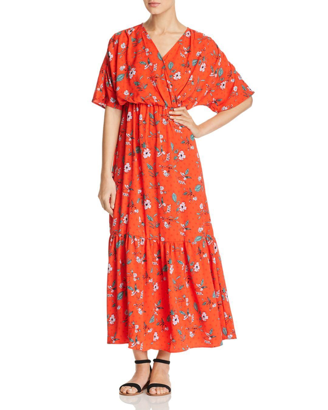 38c4f9eb2a Vero Moda Ava Floral - Print Maxi Dress in Red - Lyst