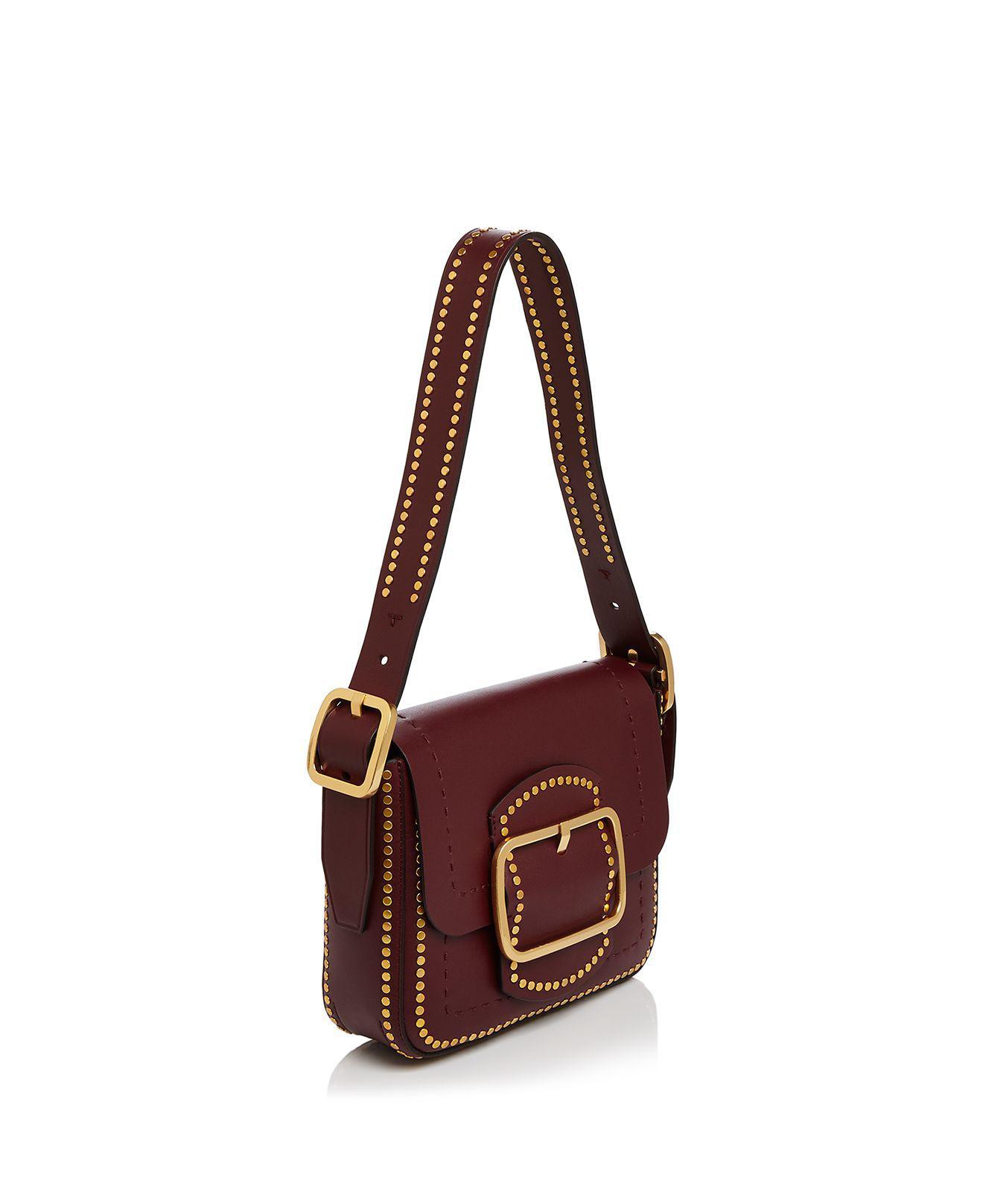 Tory Burch Sawyer Stud Small Leather Shoulder Bag