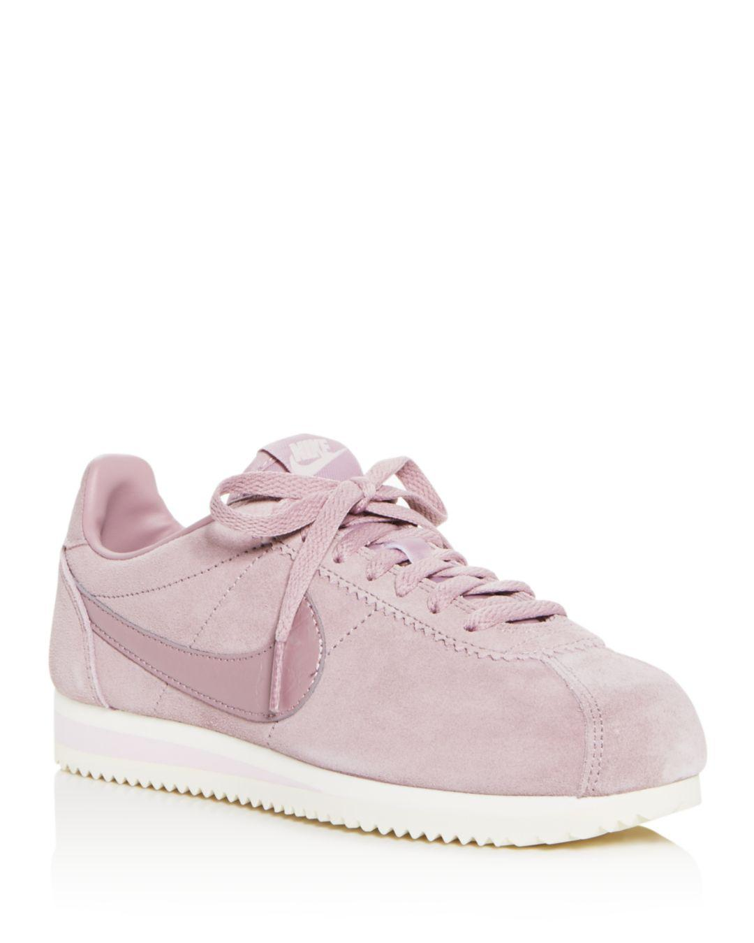 huge discount ba03e 97560 ... discount code for nike. pink womens classic cortez suede lace up  sneakers 5b520 ce13e