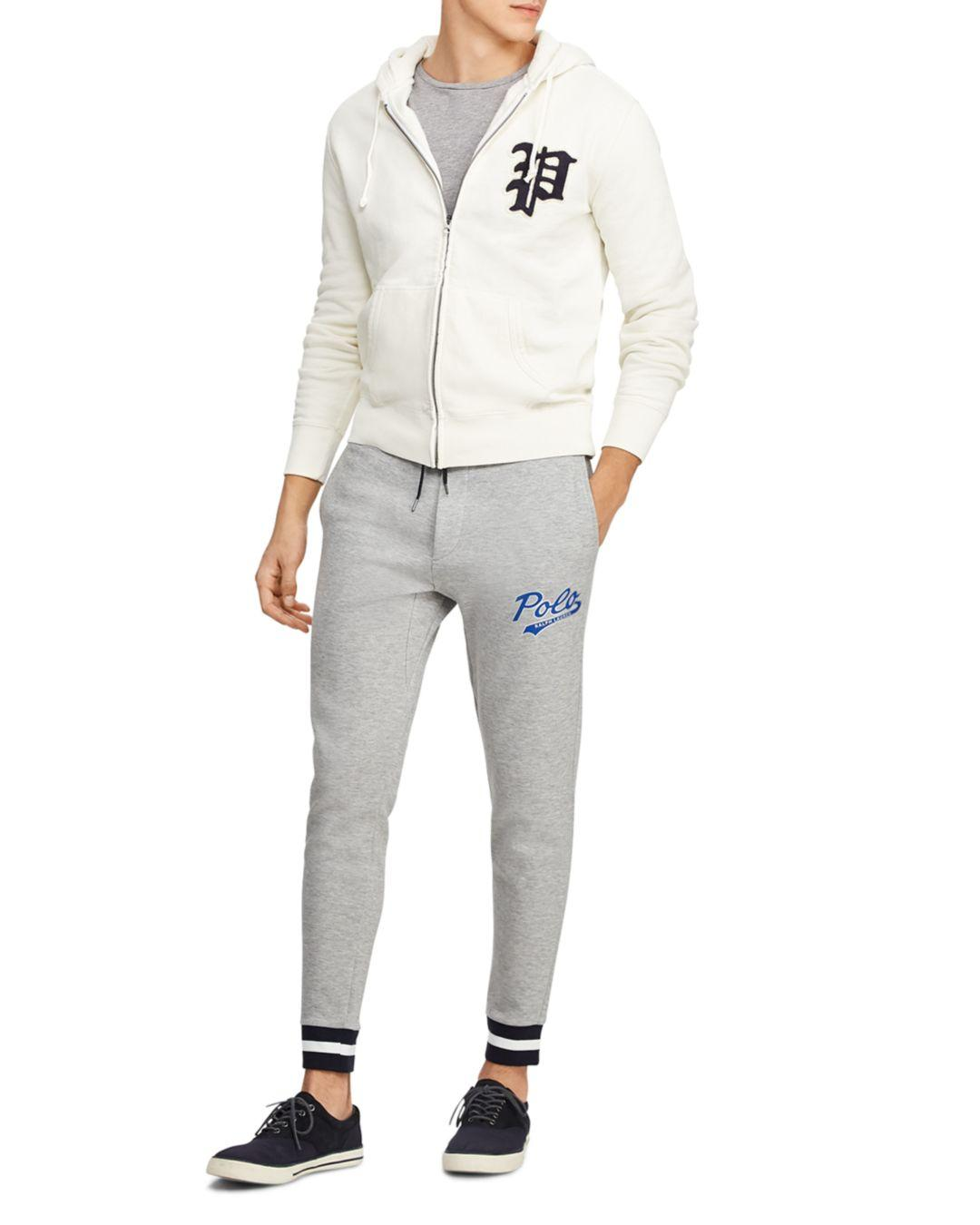 3ae38f00700a Polo Ralph Lauren - White Yale Patch-front Fleece Hoodie for Men - Lyst.  View fullscreen
