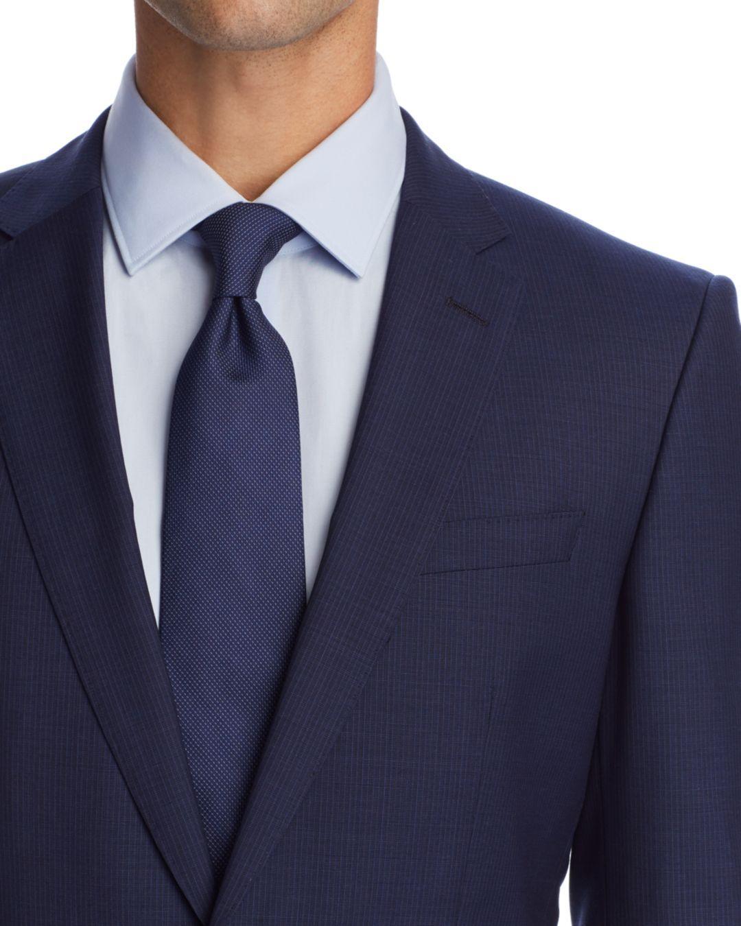 e4b04cad ... Boss Huge/genius Micro - Stripe Slim Fit Suit for Men -. View fullscreen