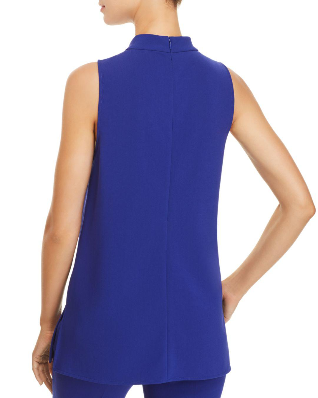 0d2c2b5cb8348 Lyst - Theory Talniza Crepe Top in Blue
