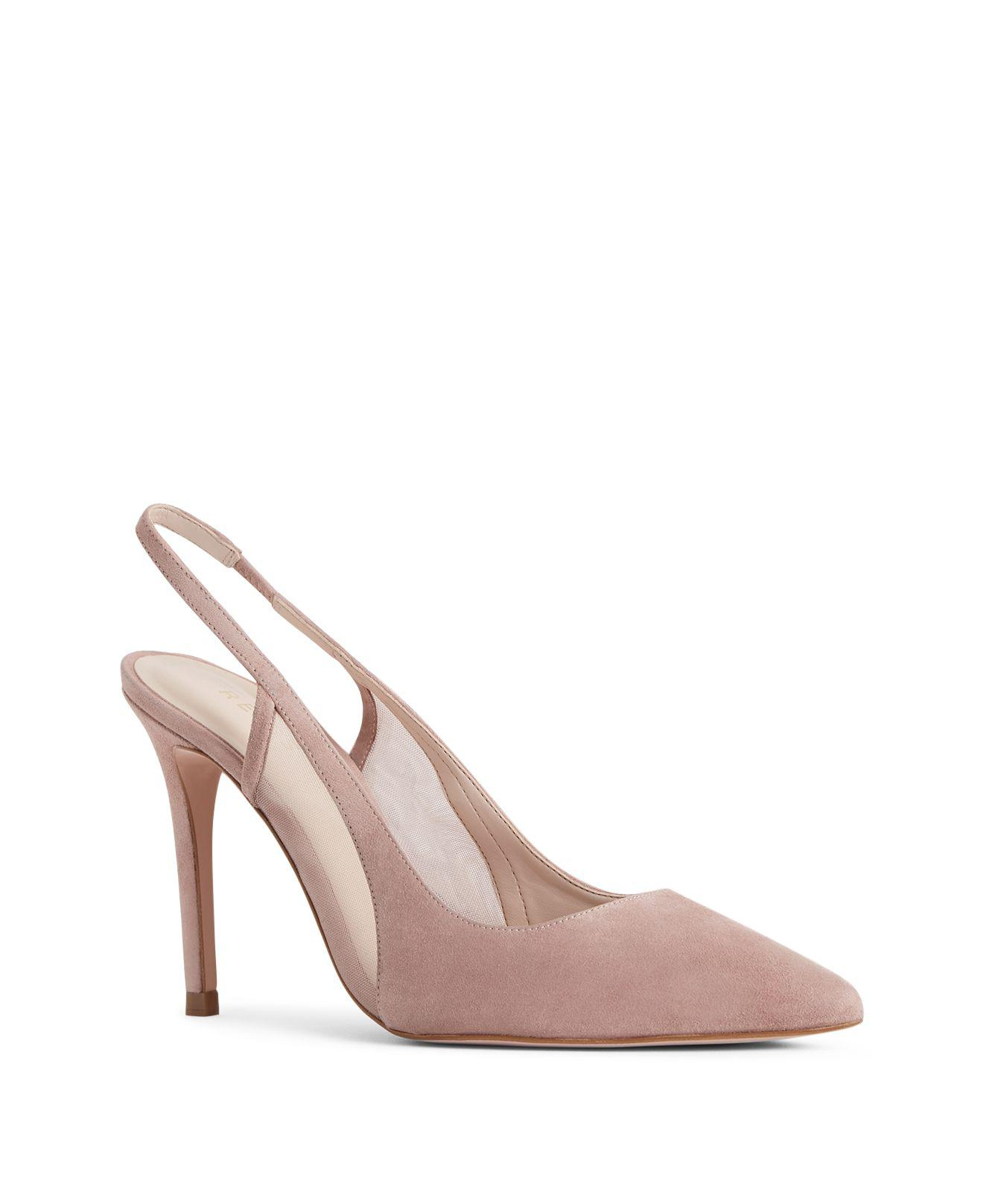 Reiss Clara - Sling-back Heels in Blush, Womens