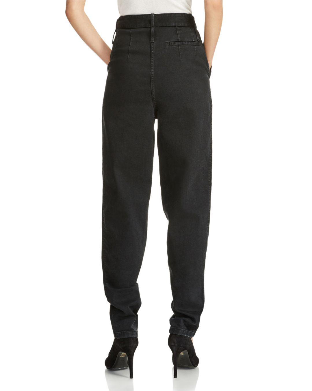 Maje Denim Parisso Tapered Jeans In Black