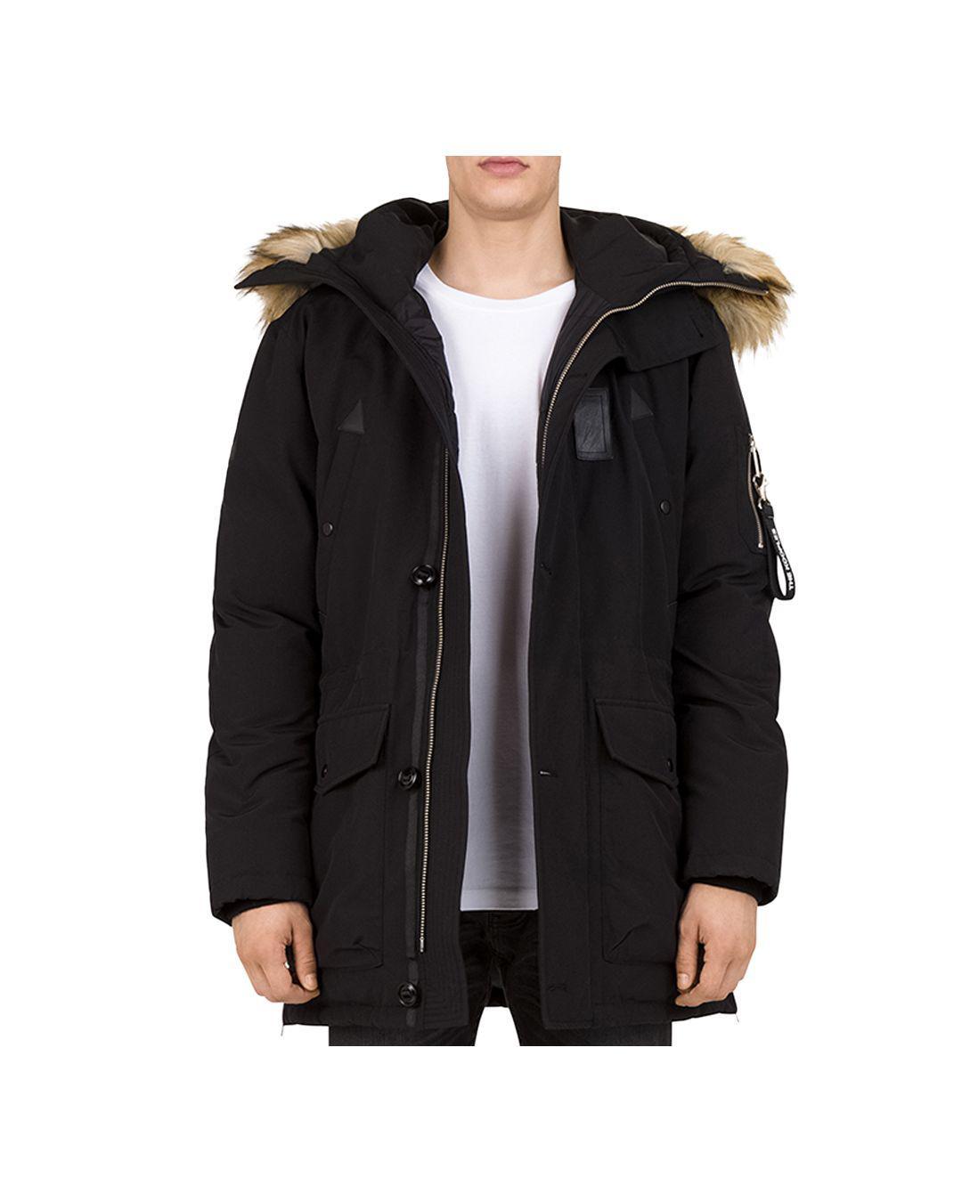3bea0316e0 The Kooples Puffa Parka Jacket in Black for Men - Lyst