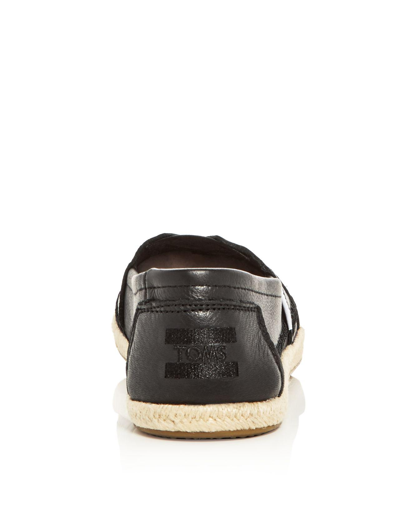 Toms Women S Leather Alpargata Espadrille Flats In Brown