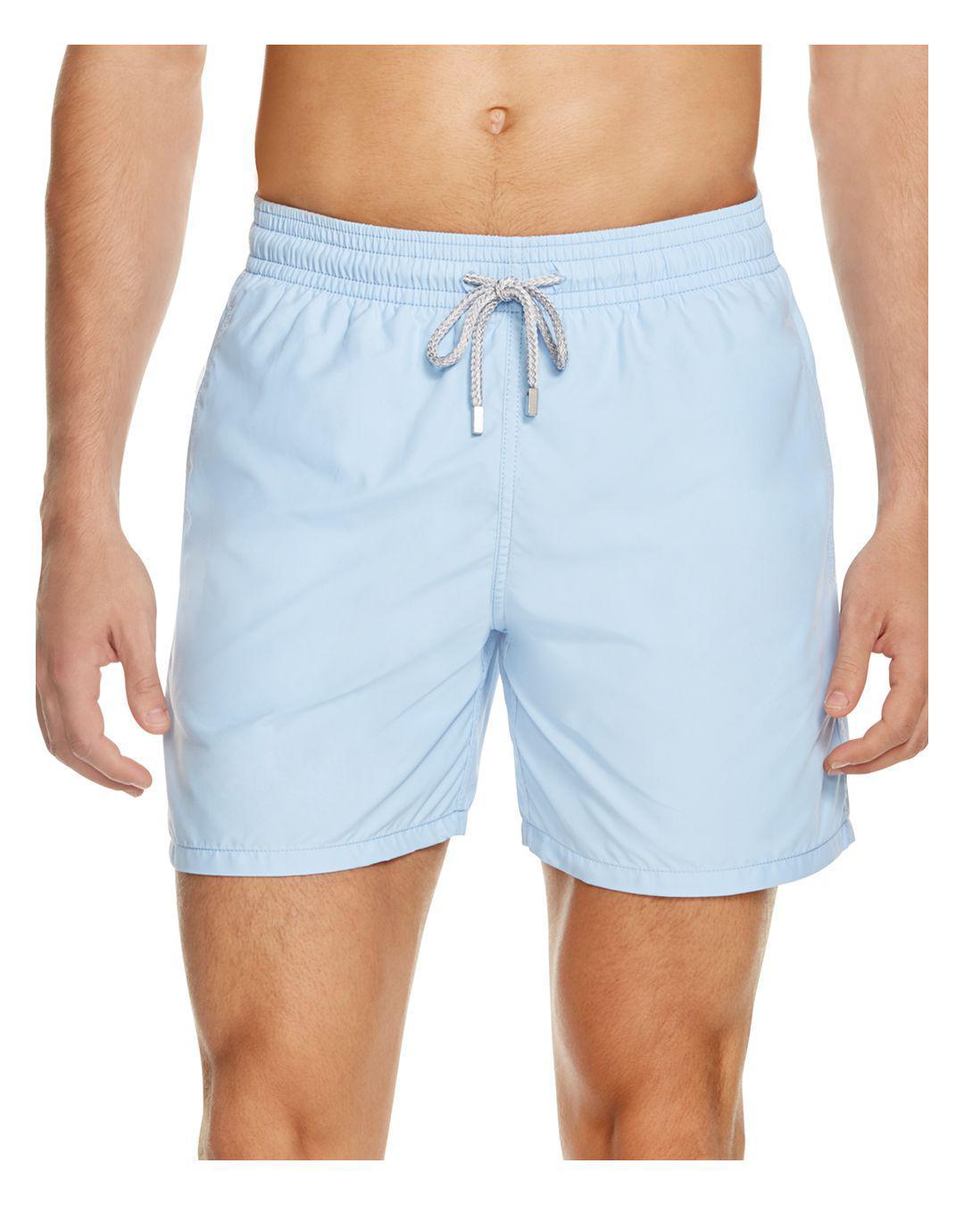 4688ff7a41 Vilebrequin Moorea Solid Swim Trunks in Blue for Men - Save 2% - Lyst