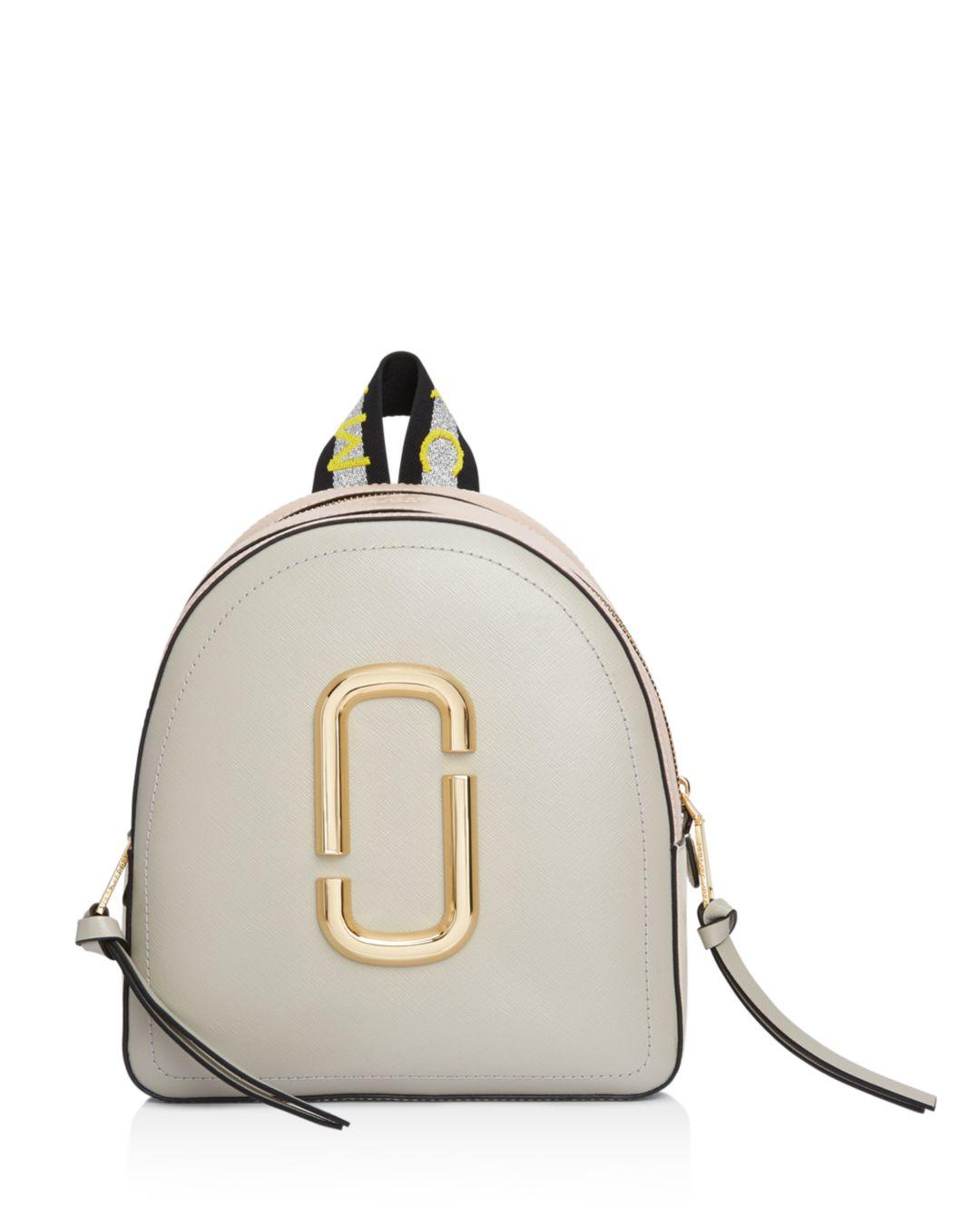 65060dde5580 Lyst - Marc Jacobs Pack Shot Color Block Leather Backpack in Metallic