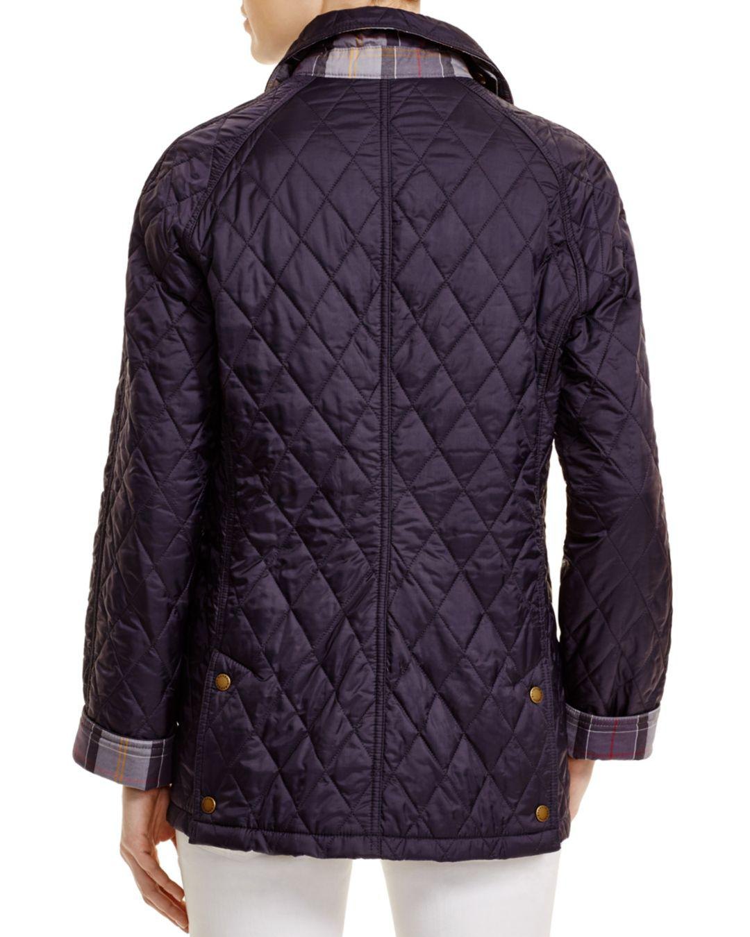 Barbour Summer Beadnell Quilted Jacket In Blue Lyst