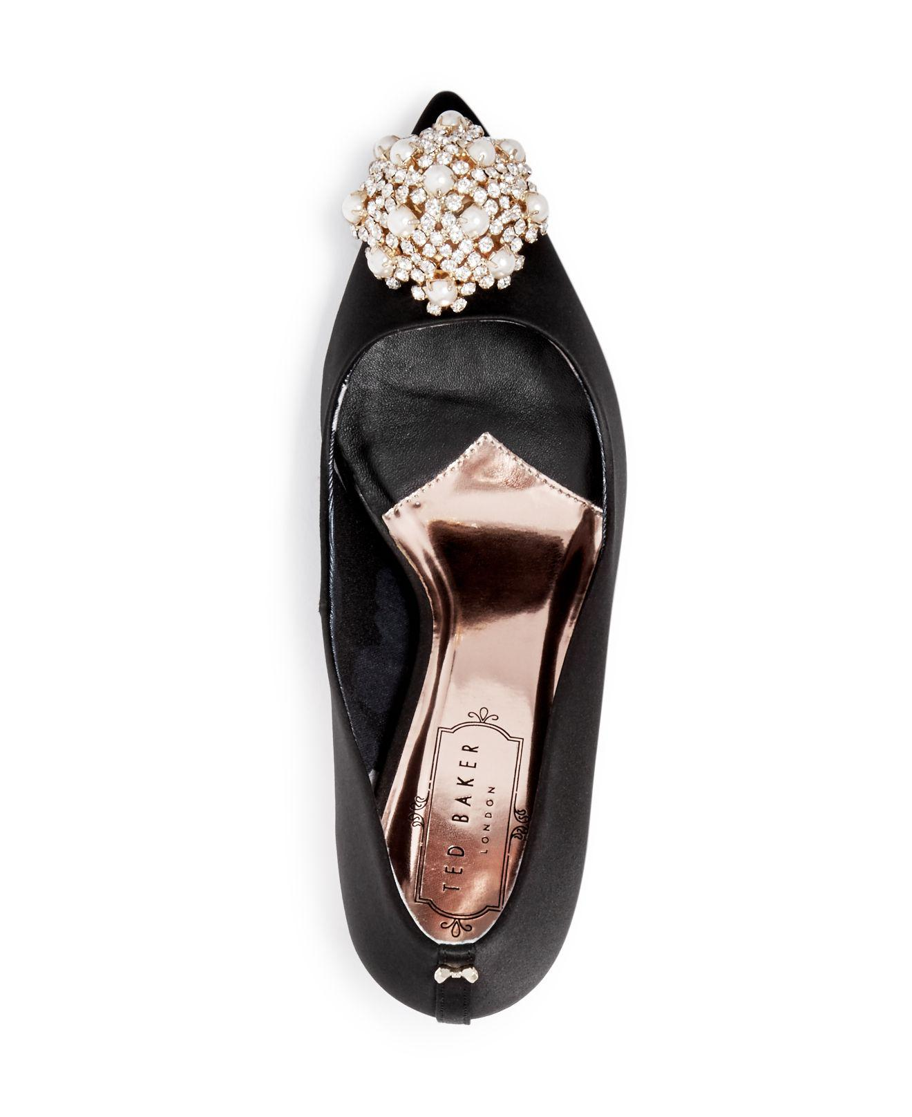 137c19e9e9f579 Ted Baker Women's Dahrlin Embellished Satin Pointed Toe Pumps in ...