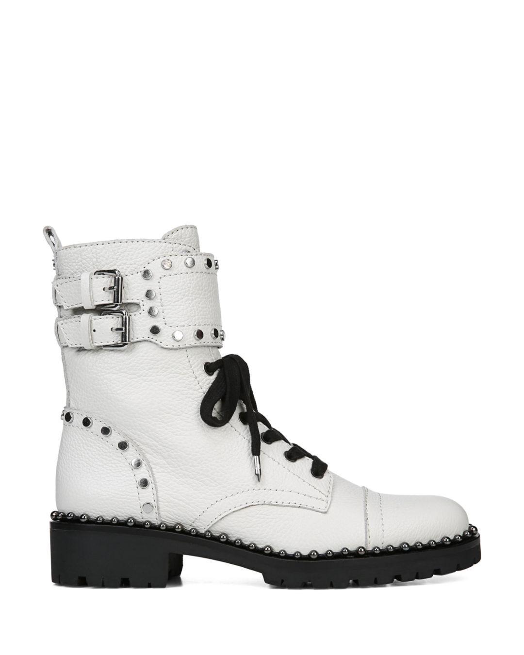Exquisite Design Better 100 Genuine White Combat Boots
